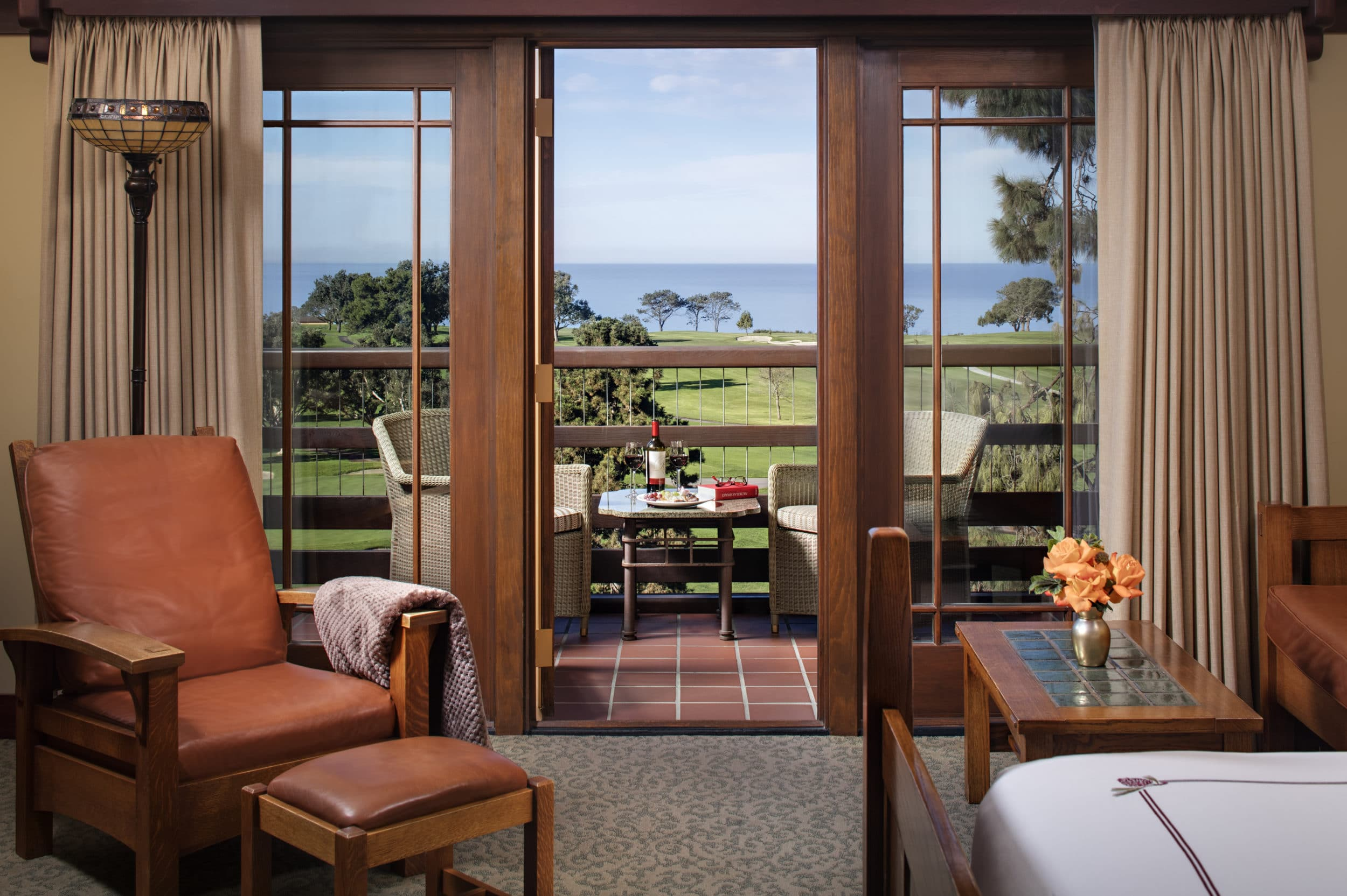 Palisade Room with ocean views at The Lodge at Torrey Pines
