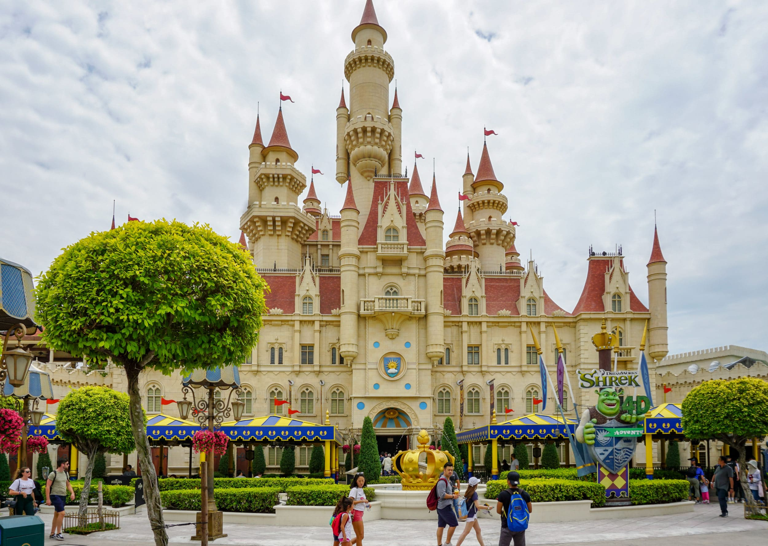 Shrek's castle at Universal Studios Singapore