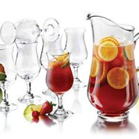 Libbey 80791 Modern Bar 7-Piece Sangria Glass Entertainment Set, Clear