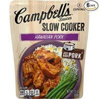 Campbell's Slow Cooker Sauces Hawaiian Pork, 13 oz. Pouch (Pack of 6)