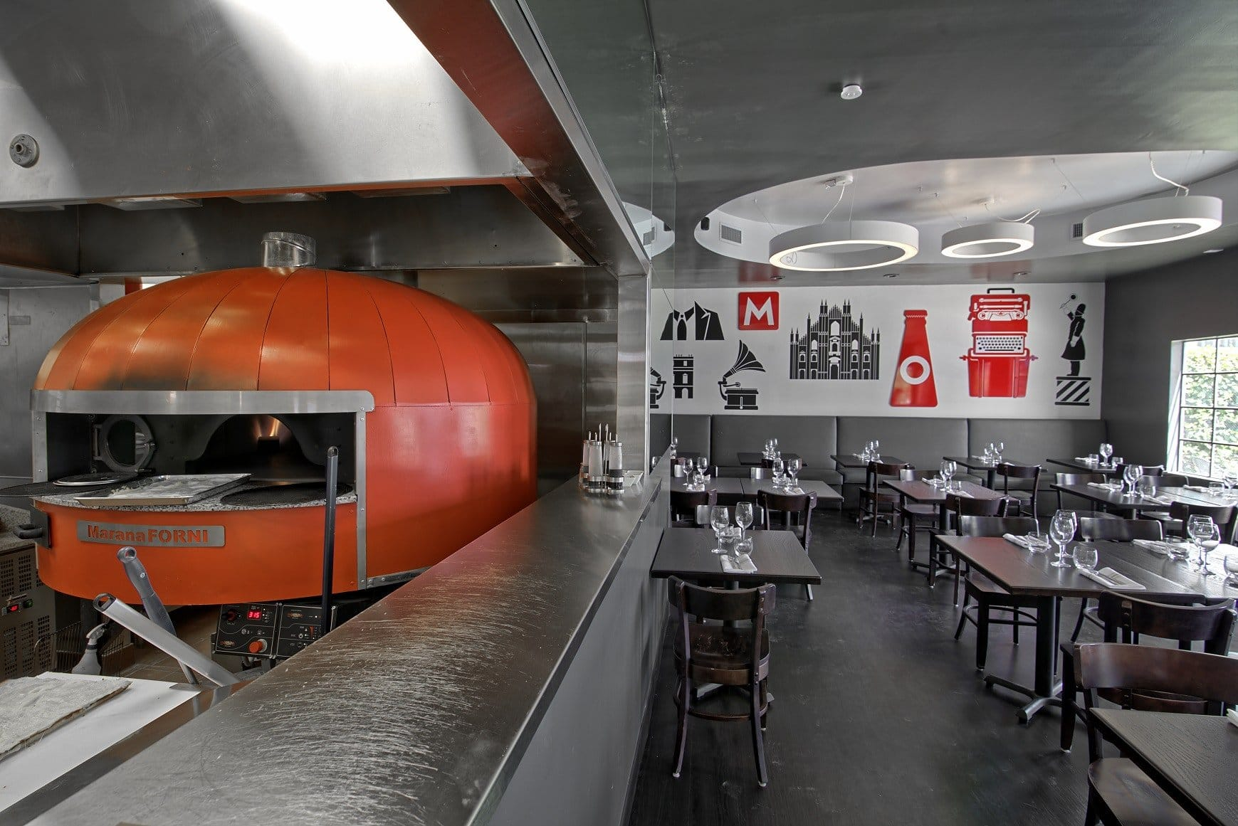 The Ambrogio15 pizza oven in the Pacific Beach restaurant