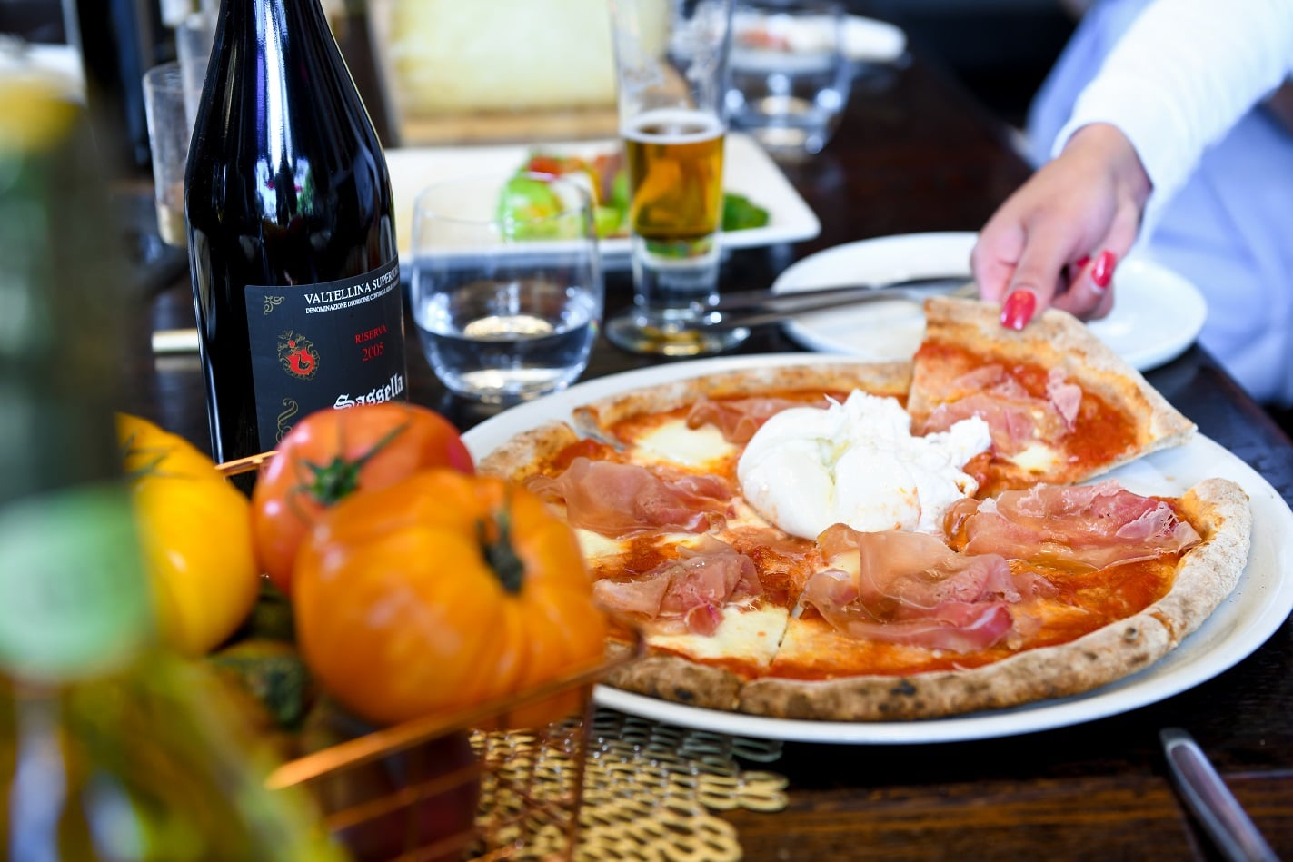 Ambrogio15 restaurant in Pacific Beach serves Milanese style pizza and biodynamic wines