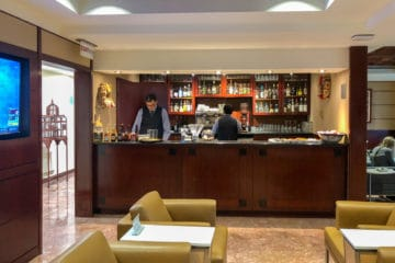 Bar at the American Airlines Admirals Club at Mexico City airport