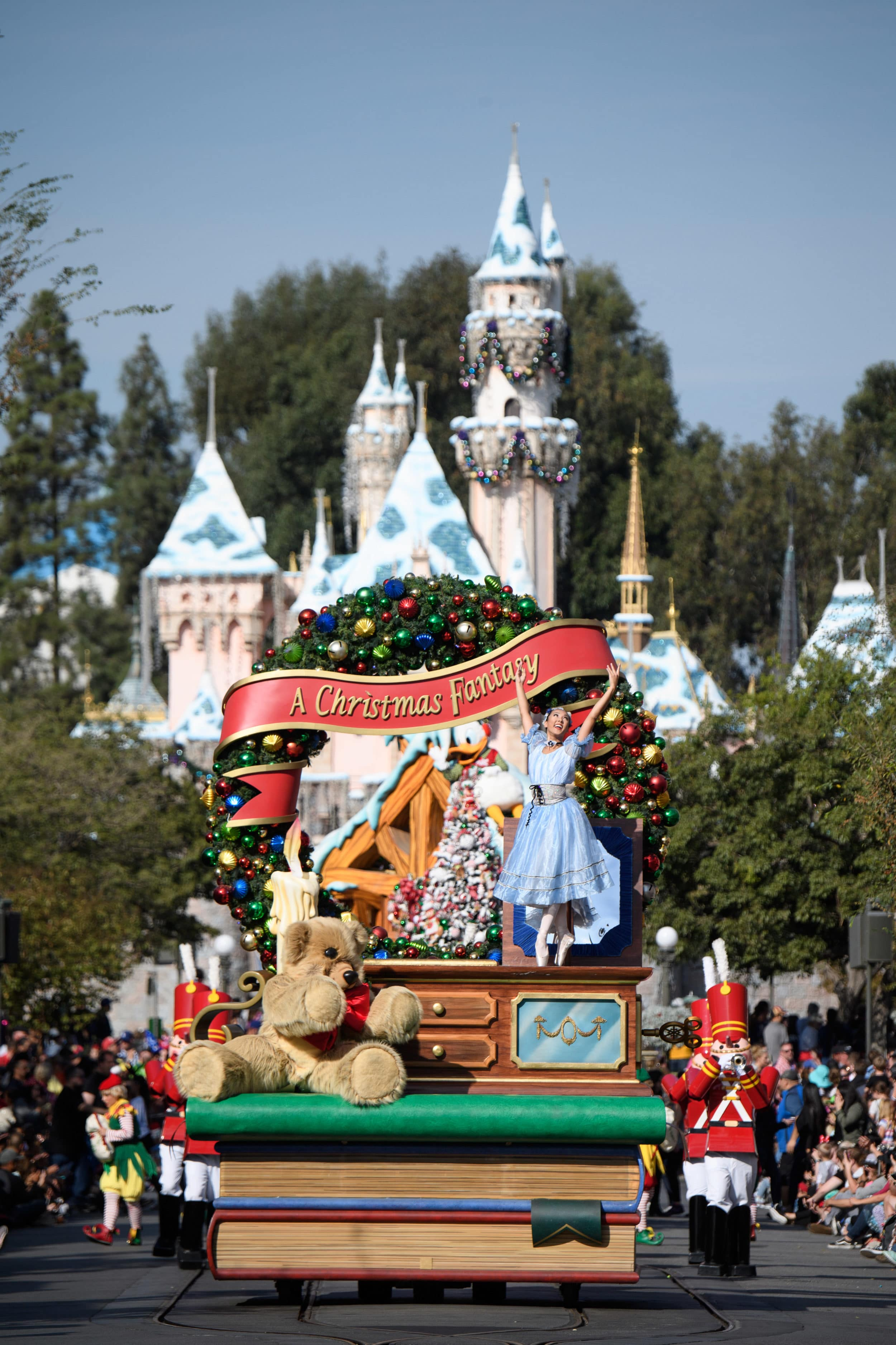 Christmas Fantasy Parade and more during the holidays at Disneyland Resort in California.