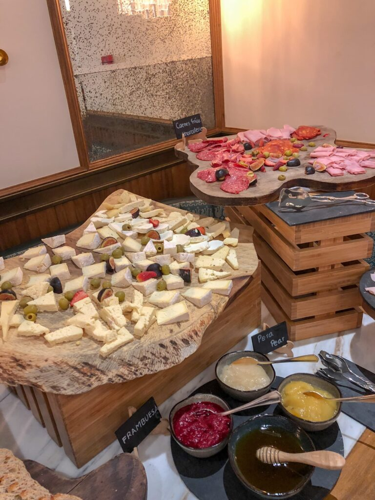 Cheese and charcuterie at Four Seasons Mexico City