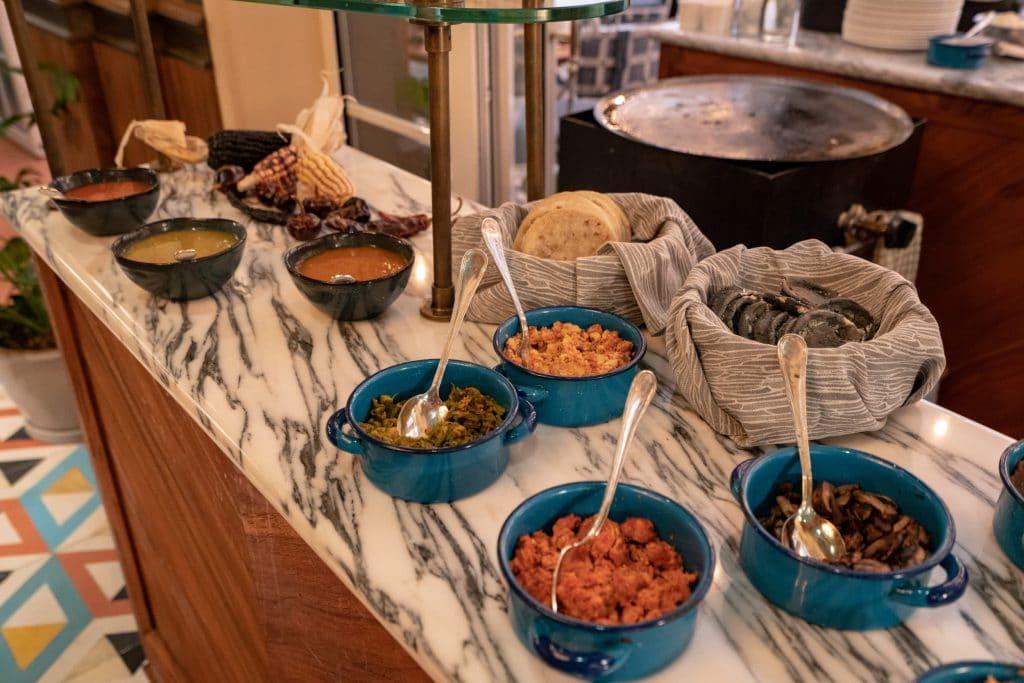 Breakfast buffet at Zanaya