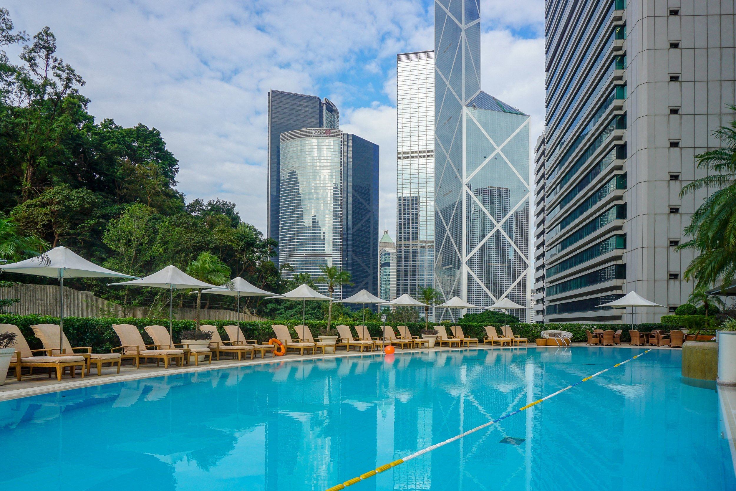 Island Shangri-la Hong Kong heated outdoor pool