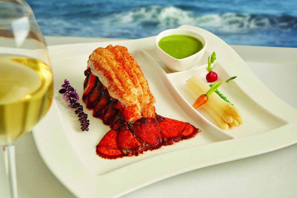 Lobster tail at The Marine Room in La Jolla