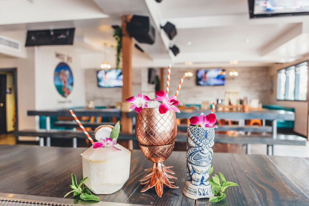 Miss B's Coconut Club in Mission Beach serves a long list of rum cocktails.
