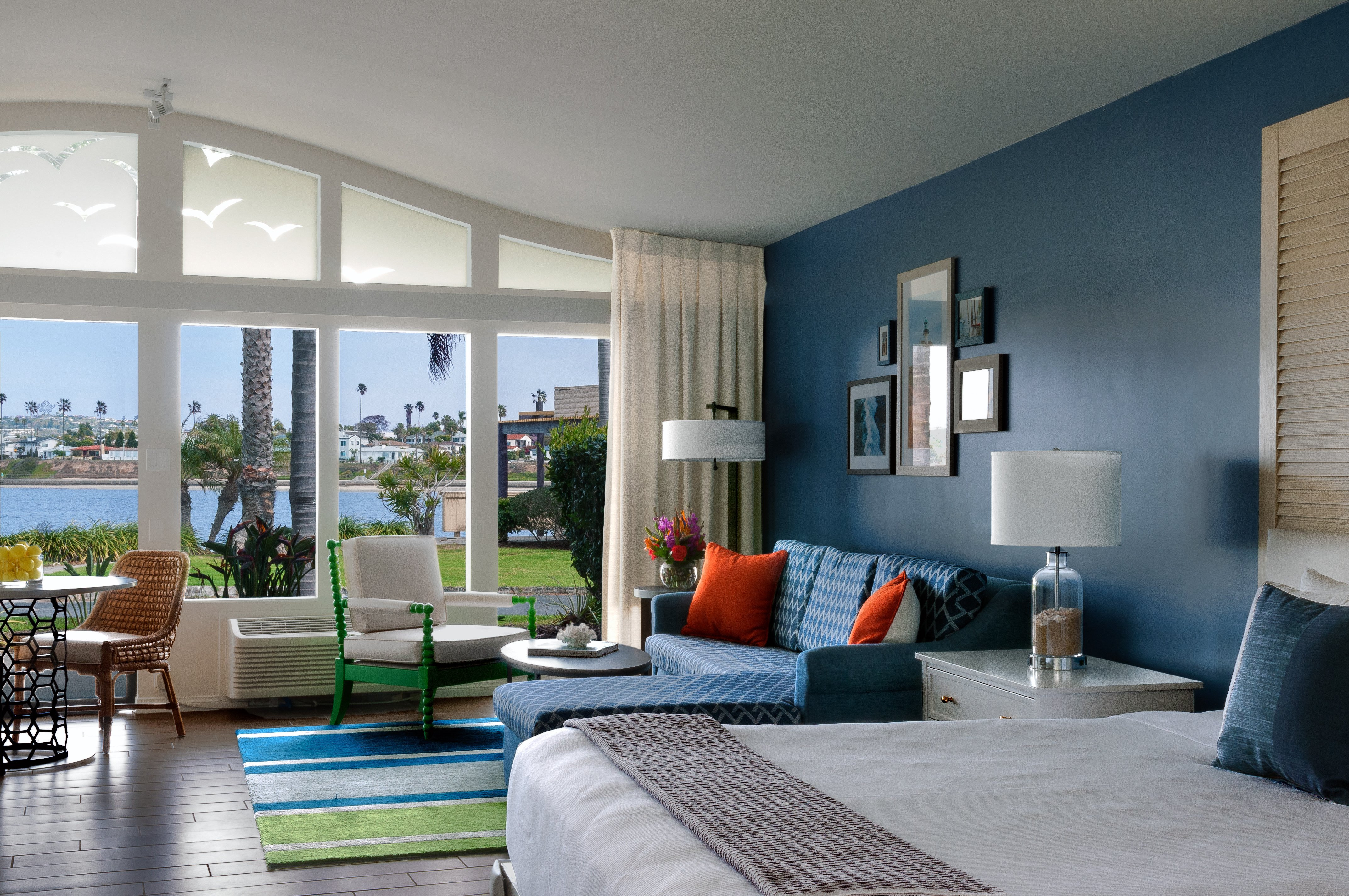 Interior view of a renovated junior suite at Paradise Point Resort & Spa San Diego.