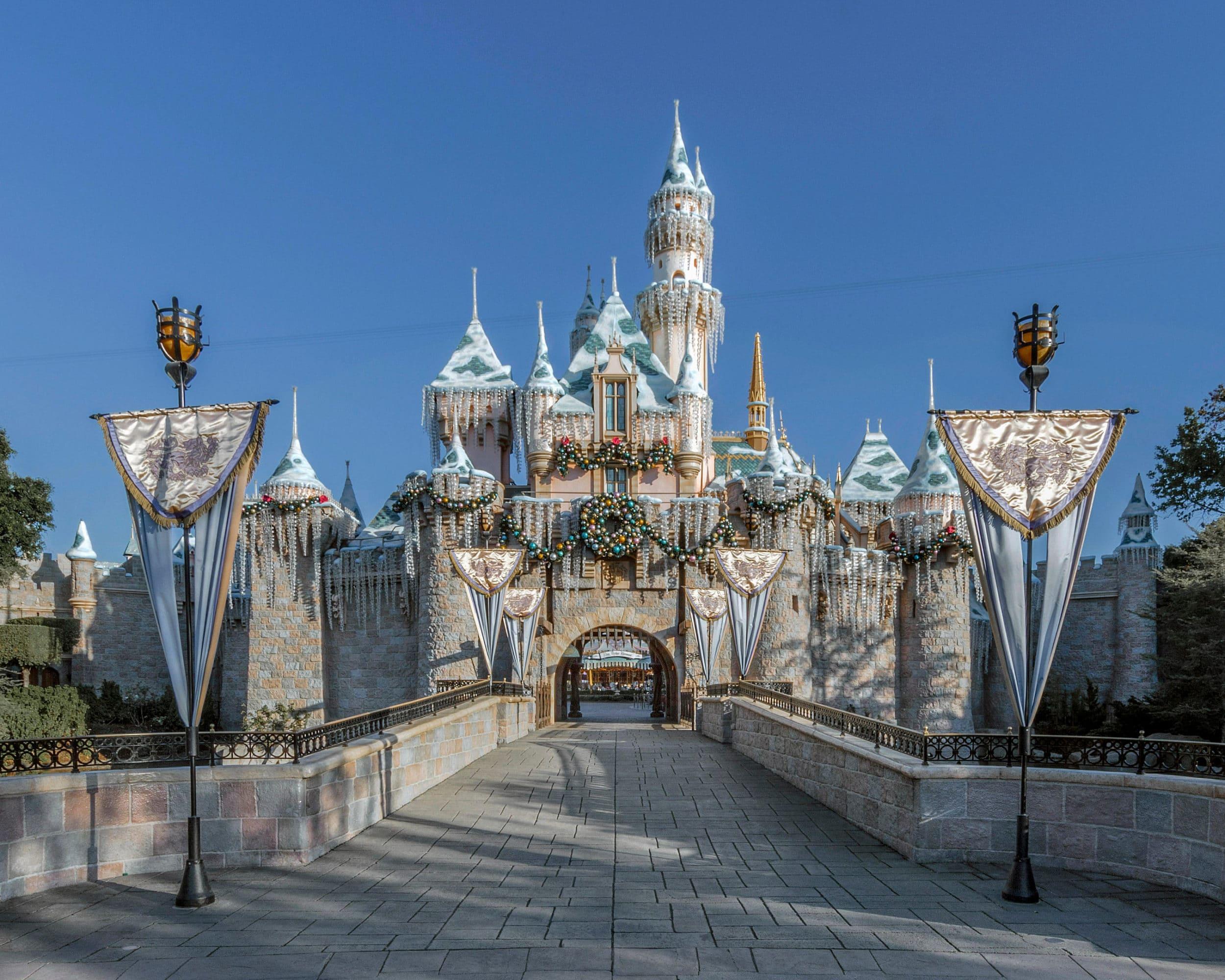 Sleeping Beauty's Winter Castle at Disneyland Resort