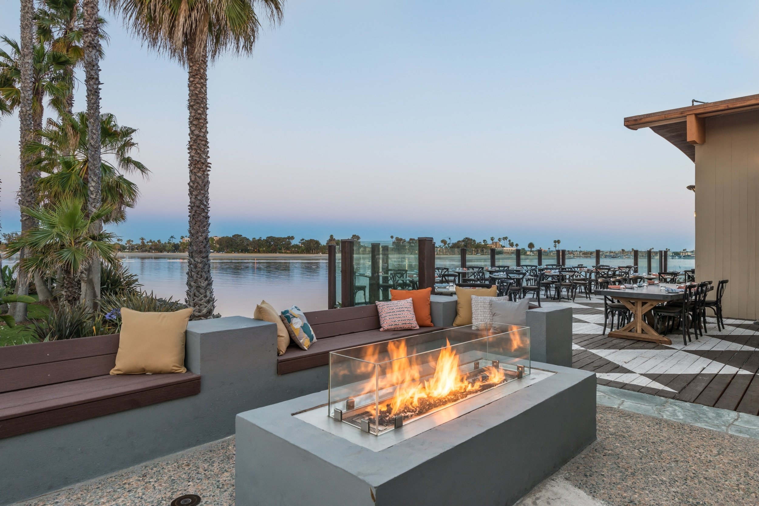Tidal restaurant at Paradise Point resort in San Diego
