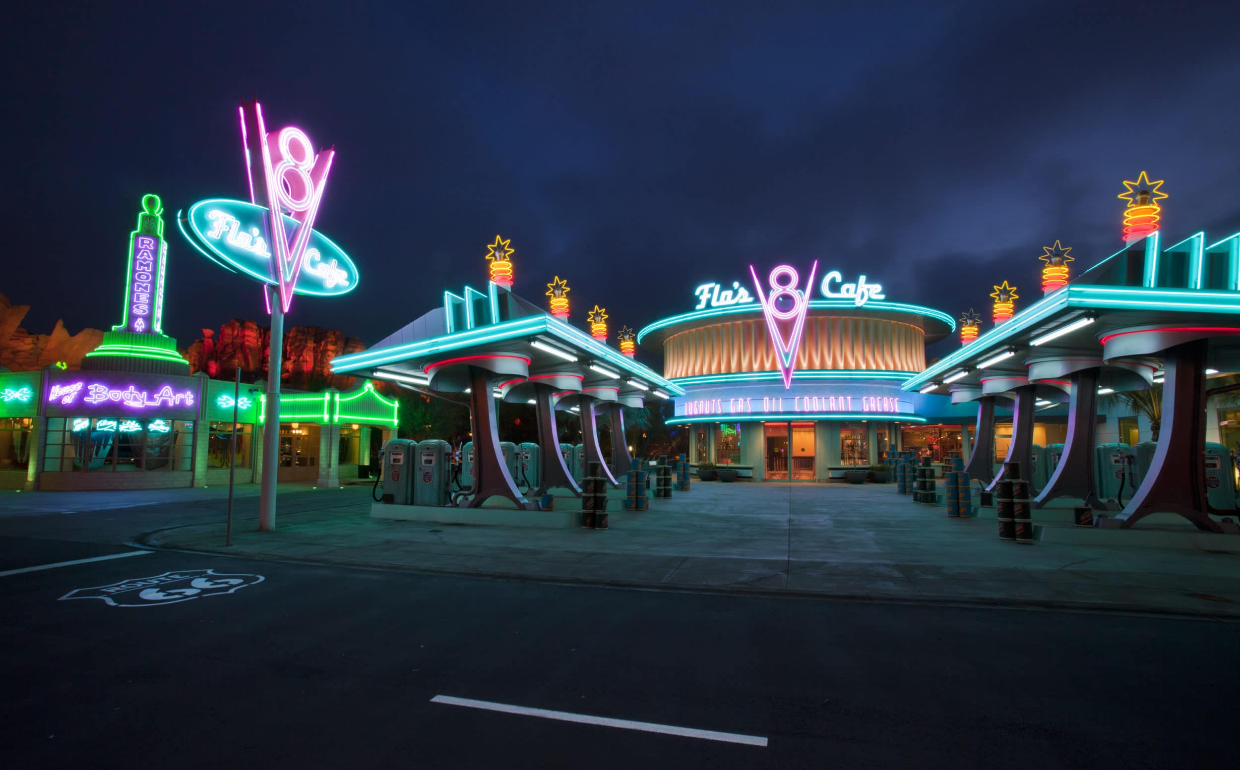 Flo's V8 Cafe at Disney California Adventure