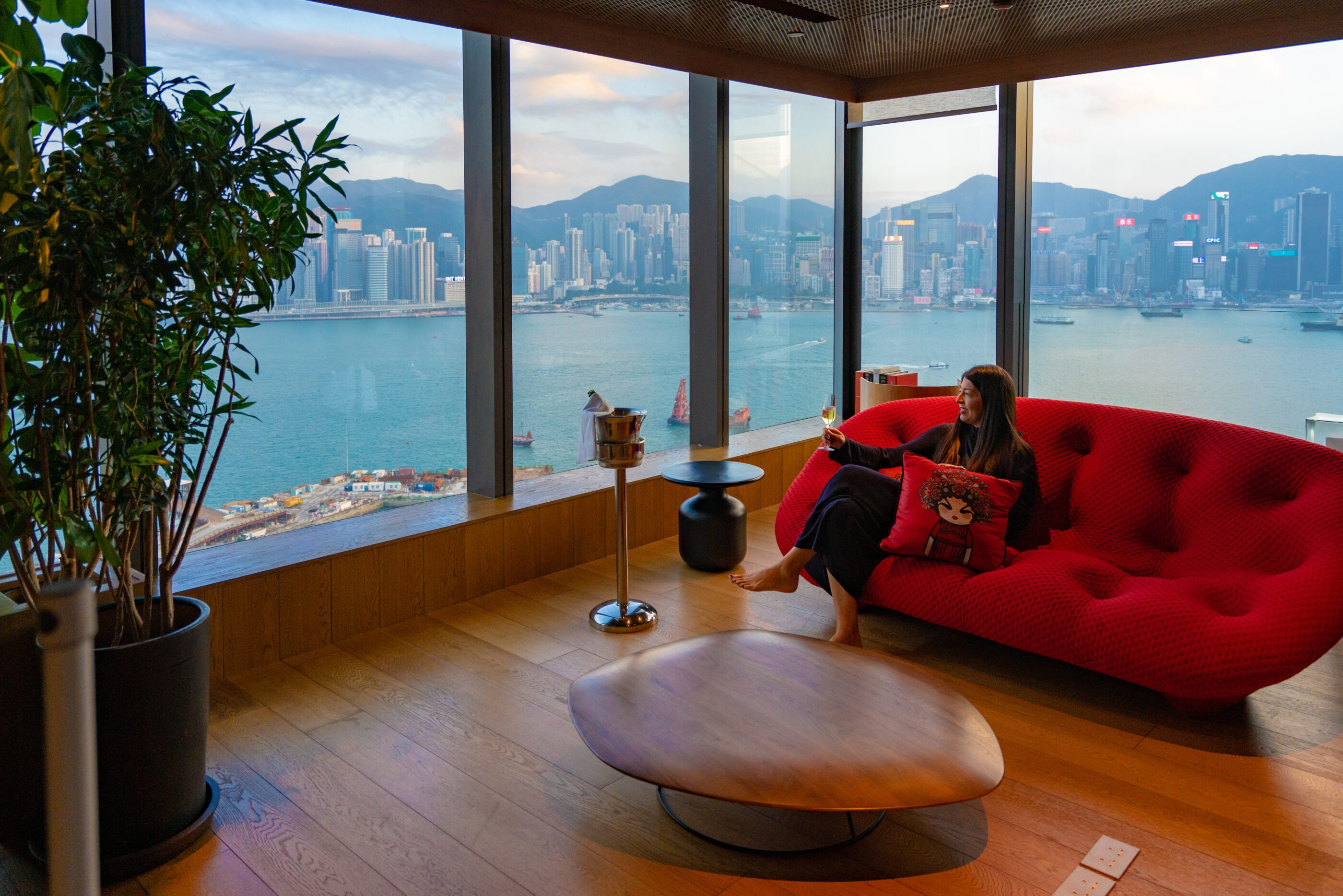 The Vivienne Tam suite at Hotel Icon, one of the best Hong Kong hotels.