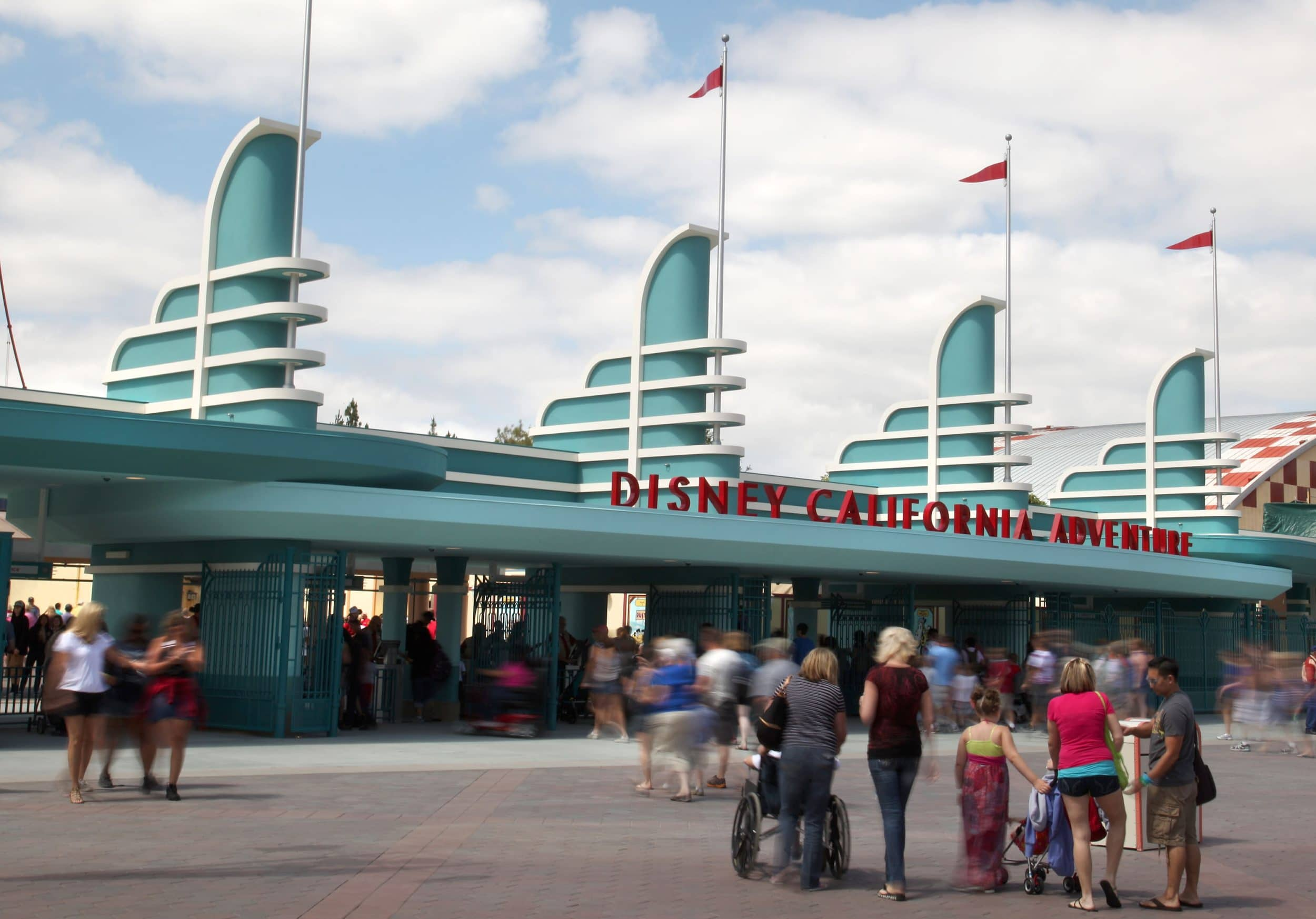 The iconic entrance to Disney California Adventure theme park