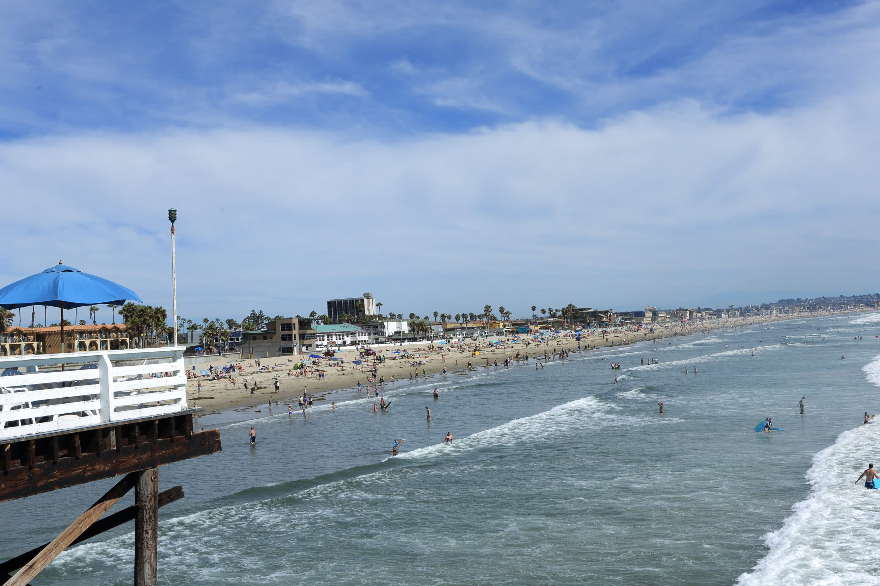 A view of Pacific Beach down to Mission Beach from Crystal Pier