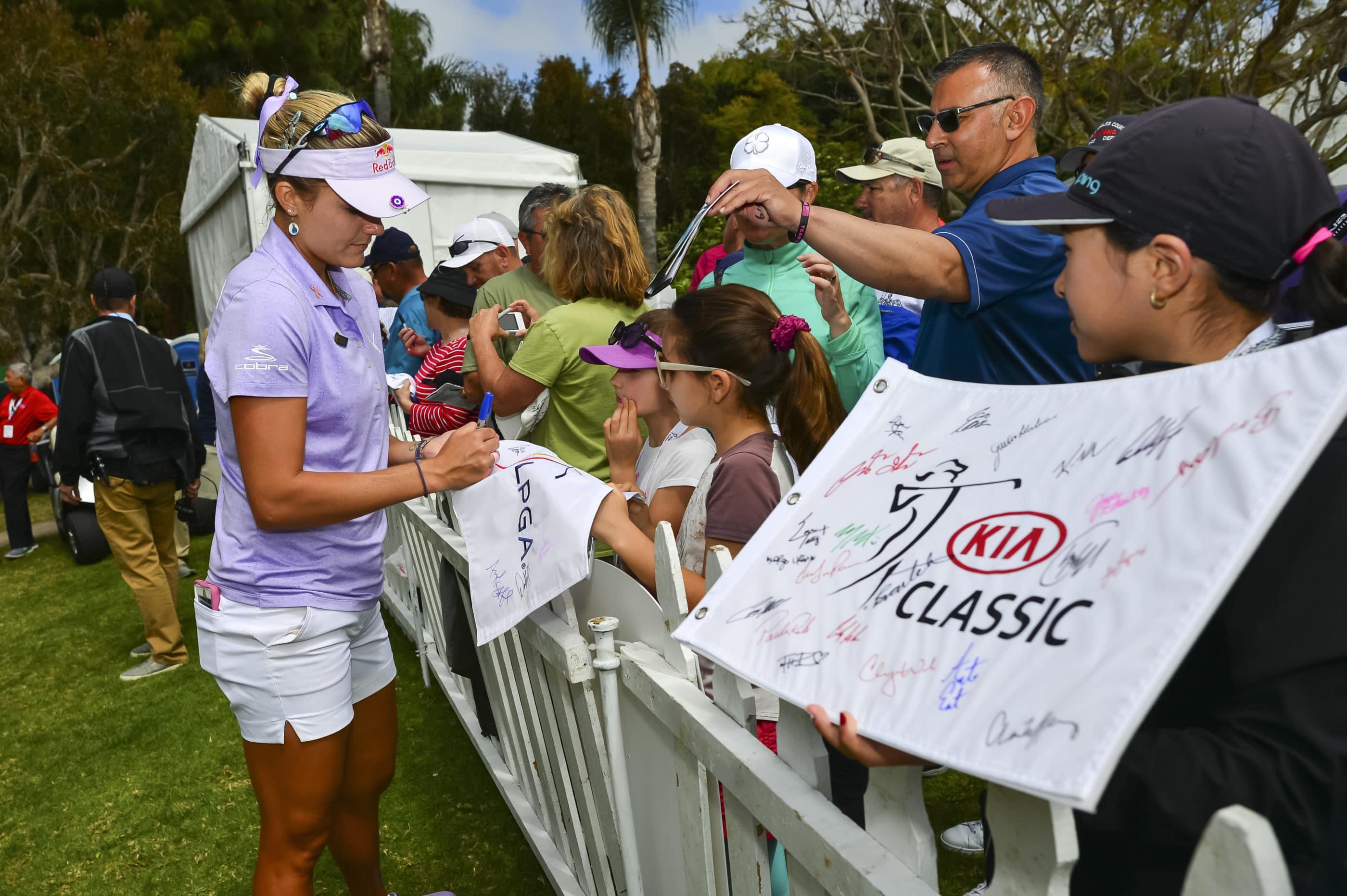 Lexi Thompson at Kia Classic tournament at Aviara Golf Club