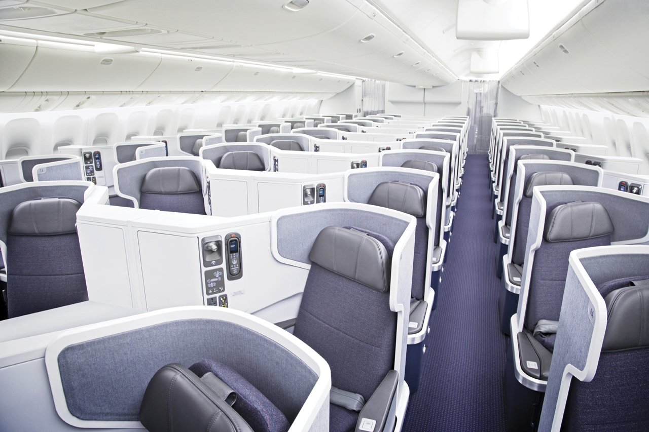 American Airlines 777-300 business class from LAX-HKG