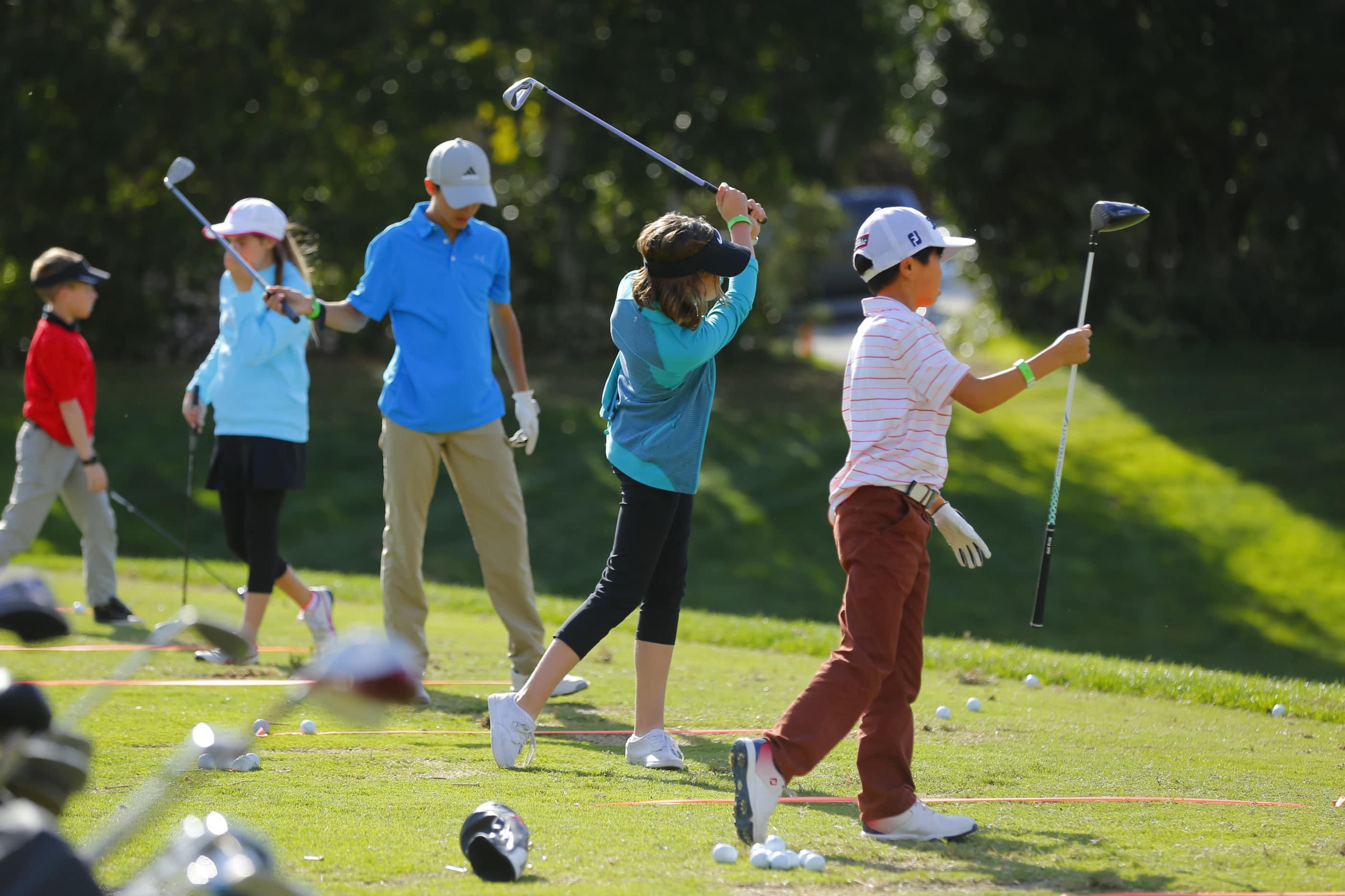 Junior Clinic at Kia Classic LPGA golf tournament at Aviara Golf Club in Carlsbad.