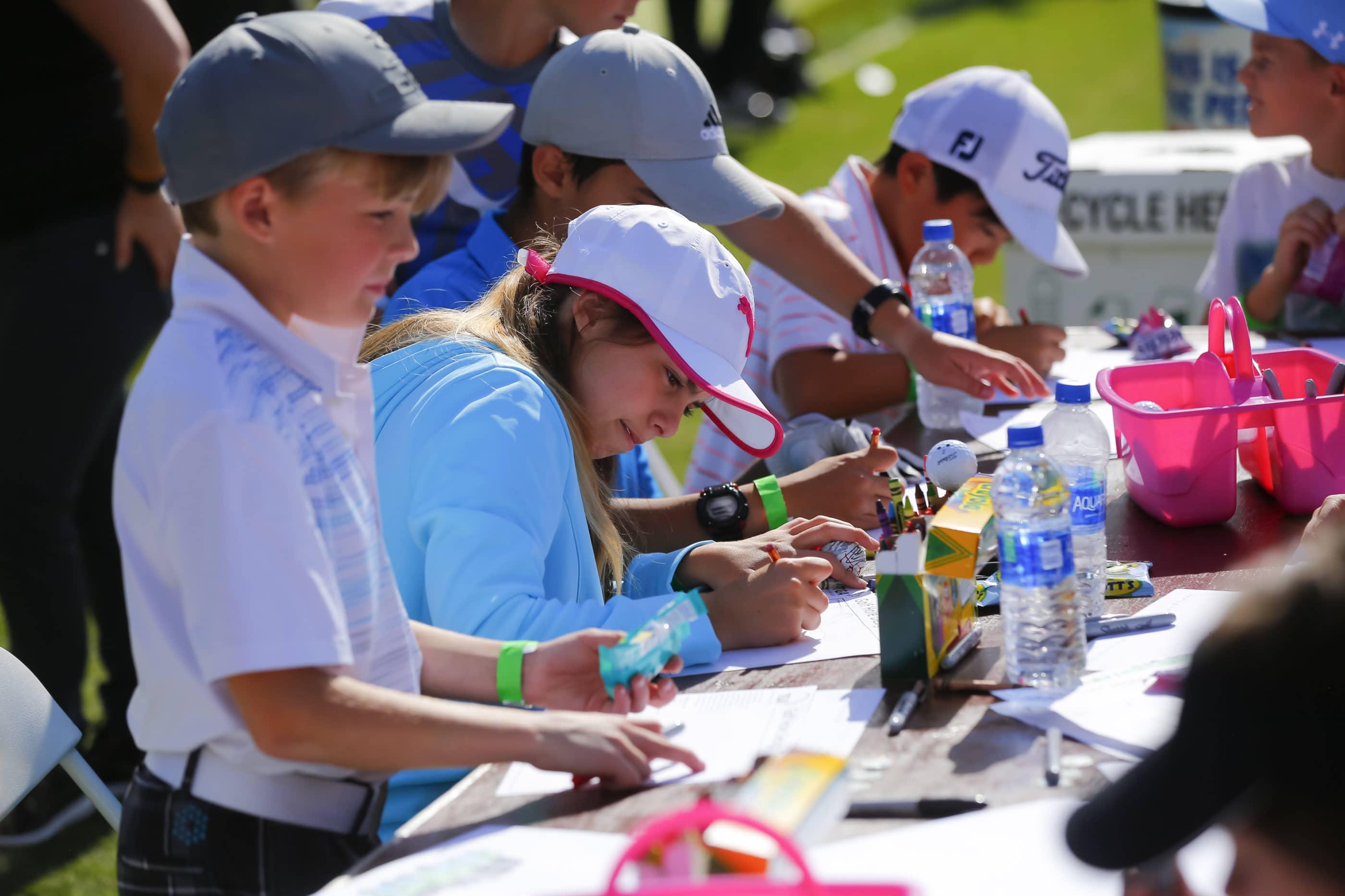Junior Clinic at the Kia Classic LPGA Golf Tournament in Carlsbad