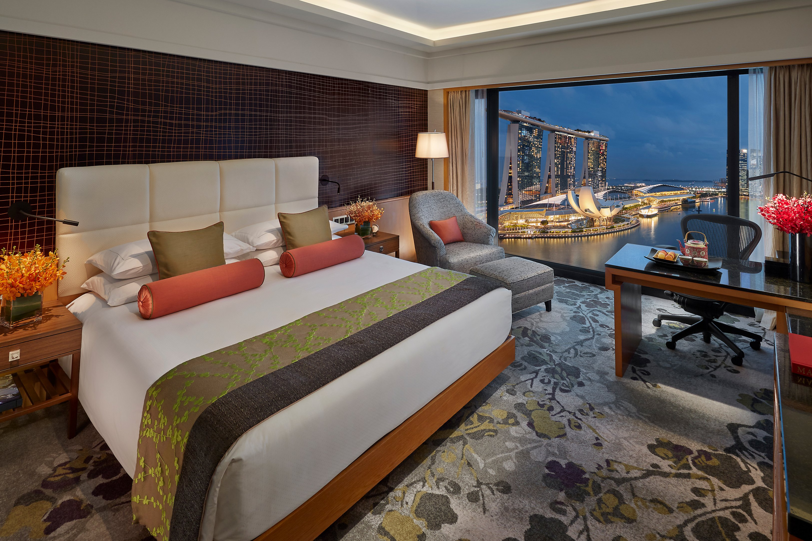 Mandarin Oriental, Singapore hotel view of Marina Bay