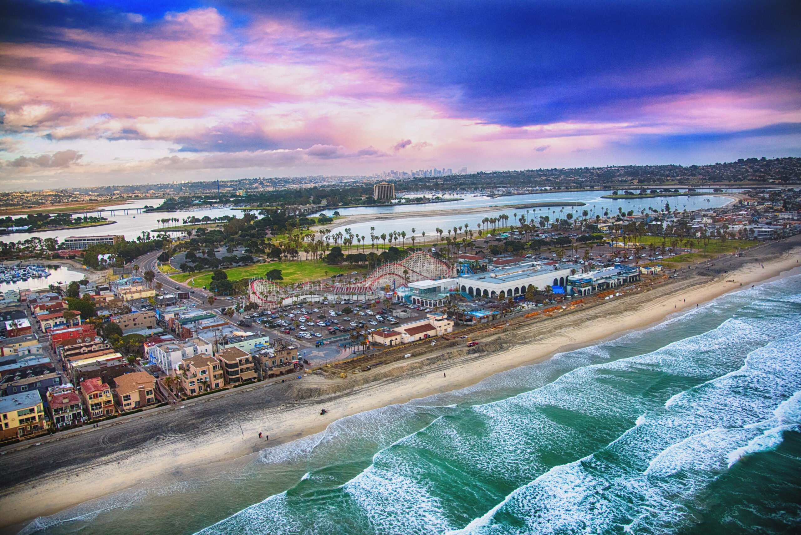 Mission Beach and Mission Bay in San Diego