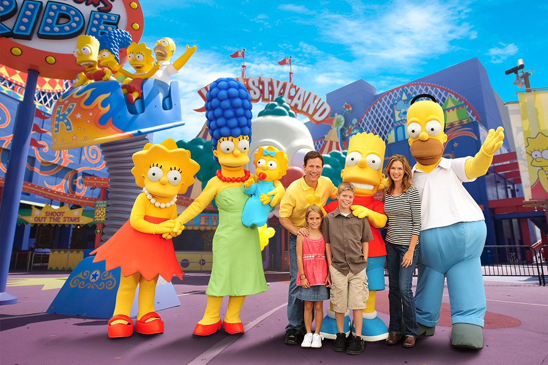 The Simpsons at Universal Studios Hollywood