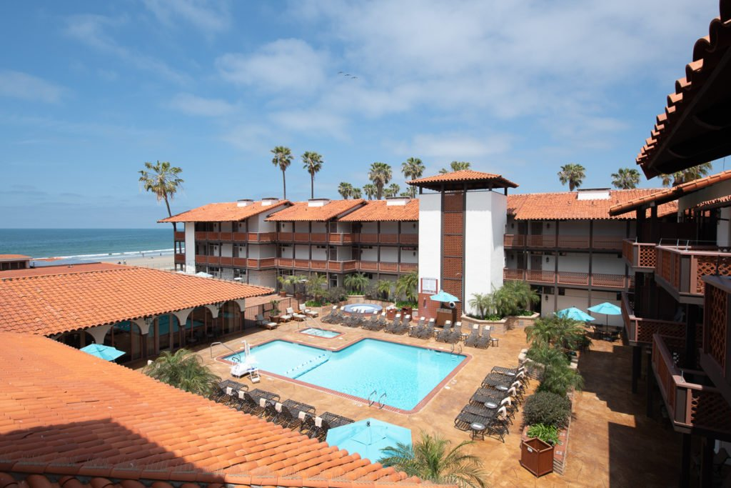 The pool at La Jolla Shores Hotel in San Diego