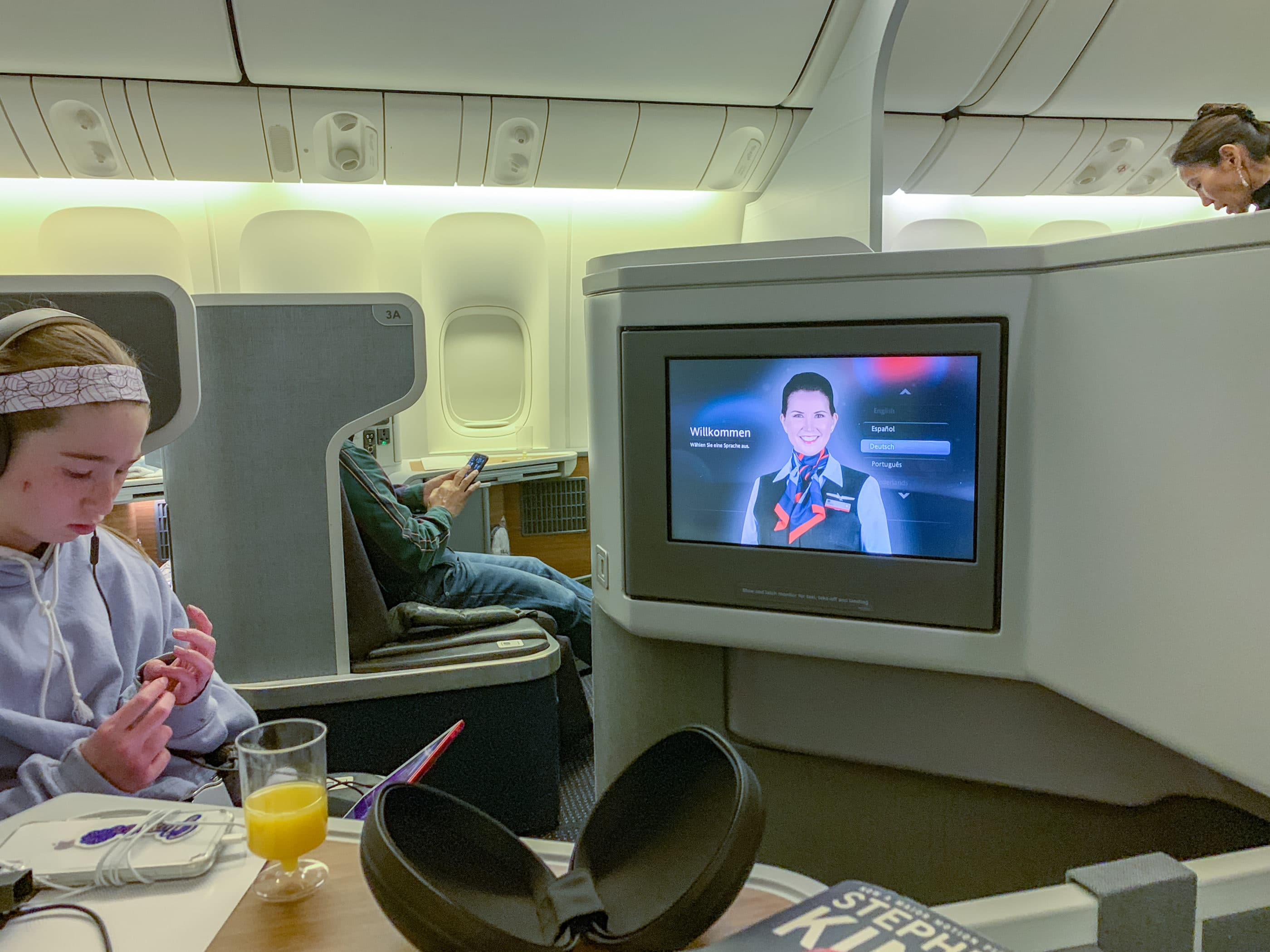American Airlines business class from Los Angeles to Hong Kong on a 777-300ER