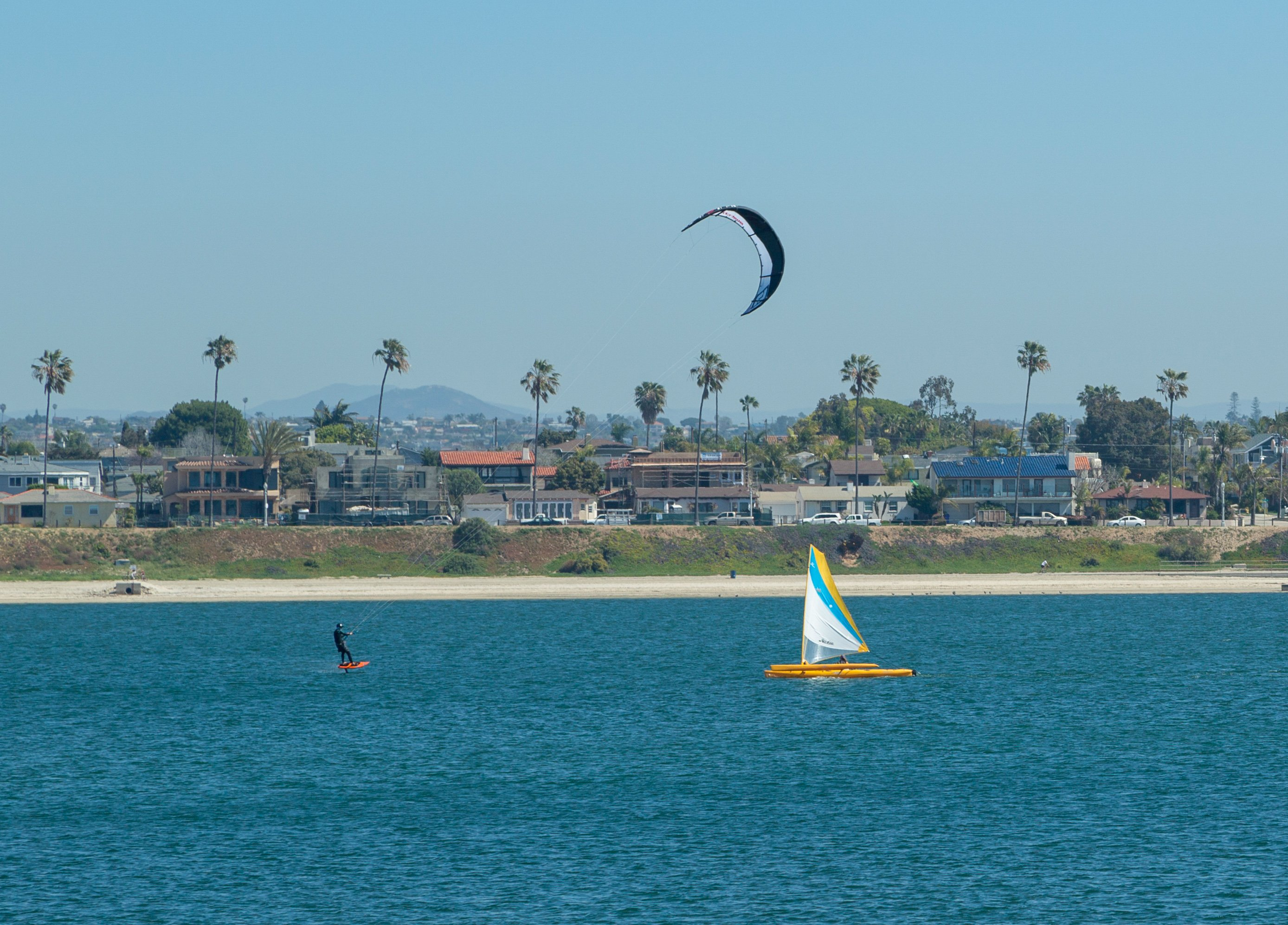 Kiteboarding on Mission Bay San Diego