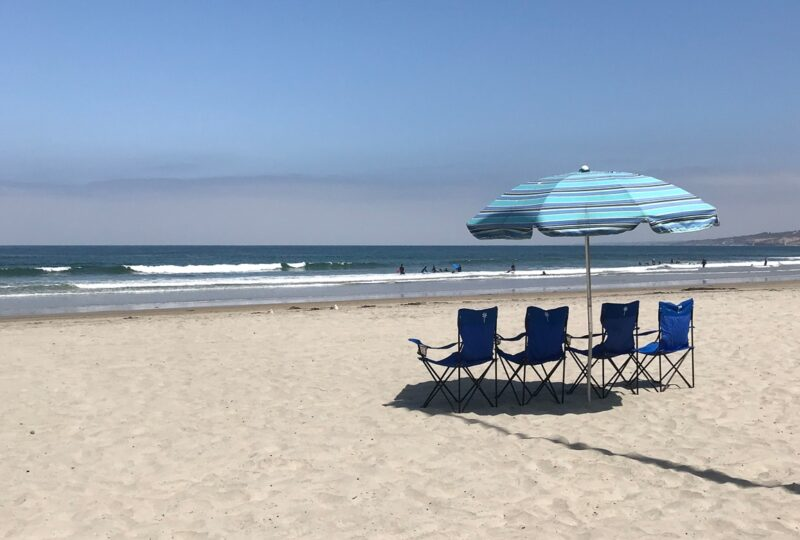 la jolla shores hotel beach chair umbrella