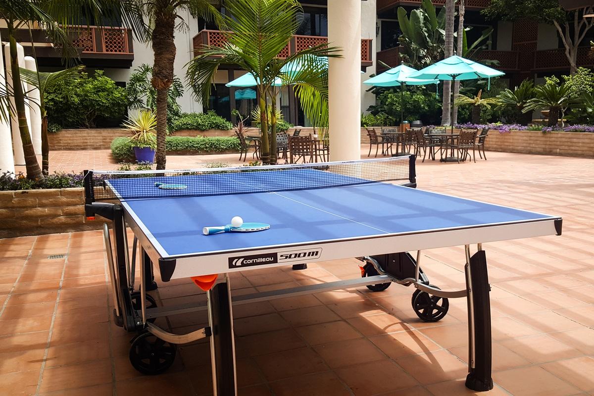 Ping pong at La Jolla Shores Hotel in San Diego