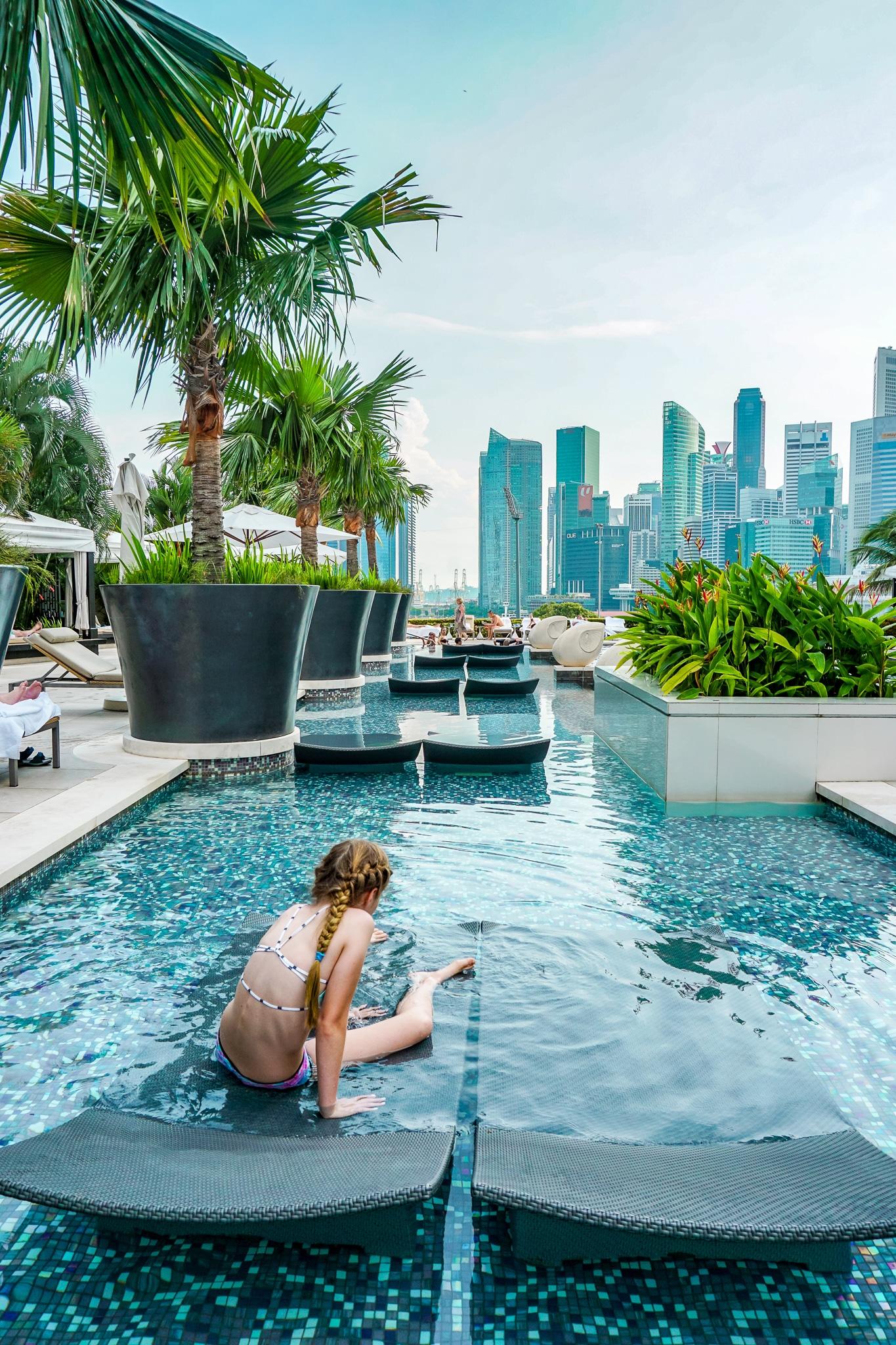 Mandarin Oriental Singapore outdoor pool