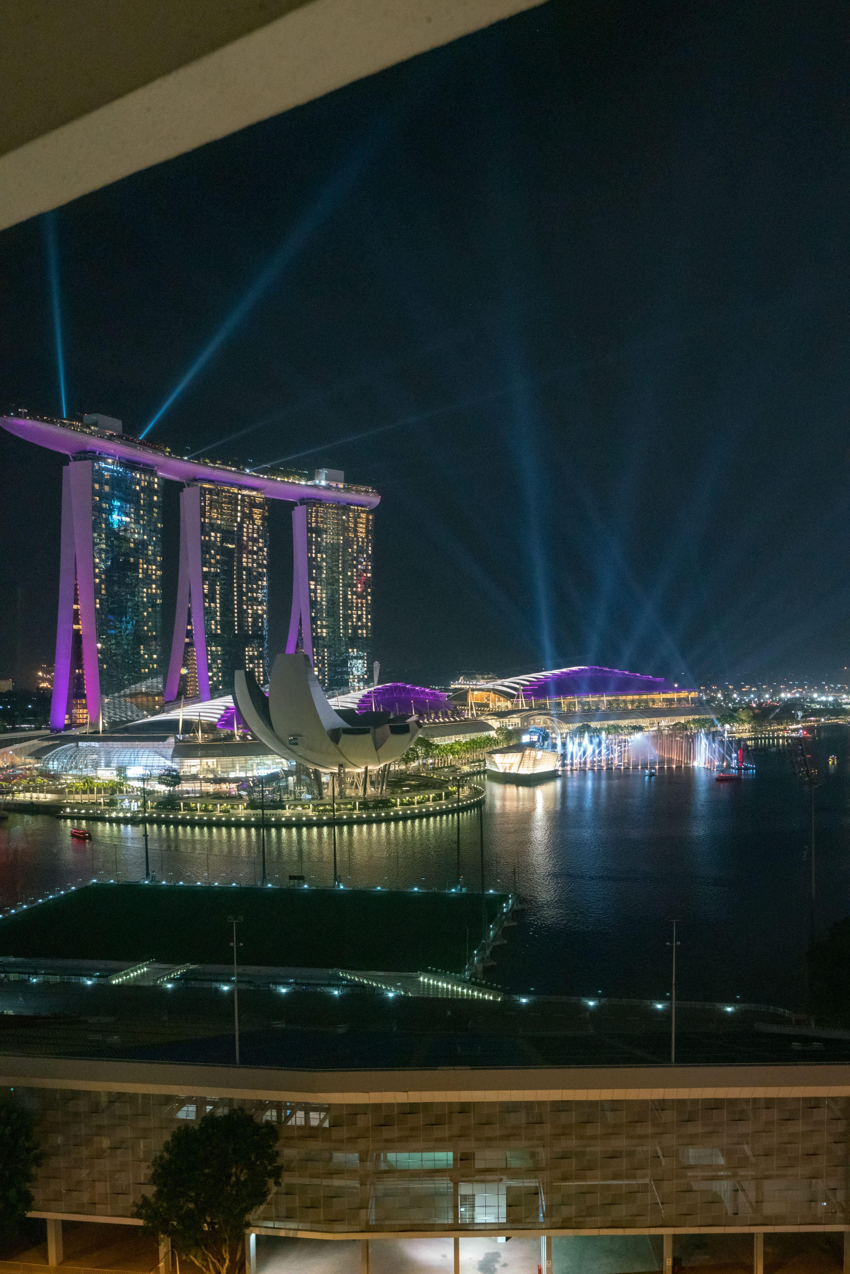 Spectra light show over Marina Bay, Singapore