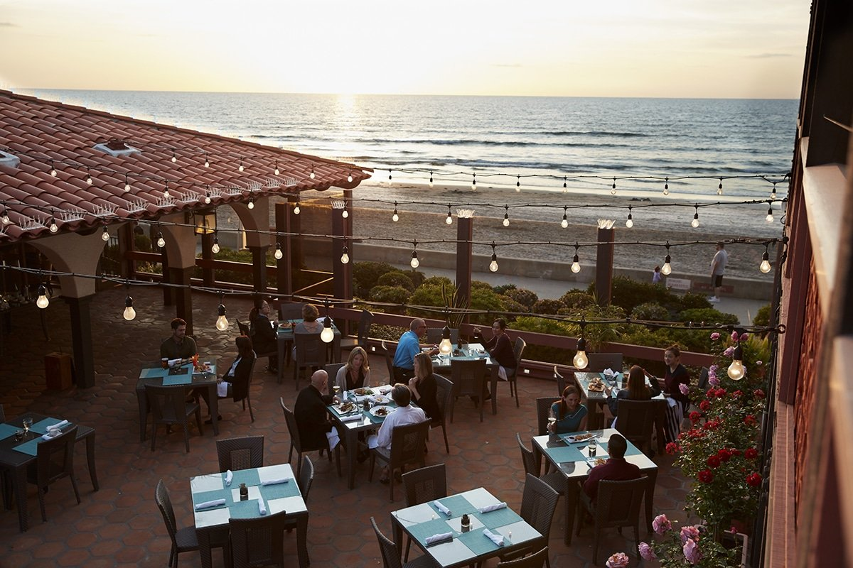 The Shores Restaurant patio in La Jolla