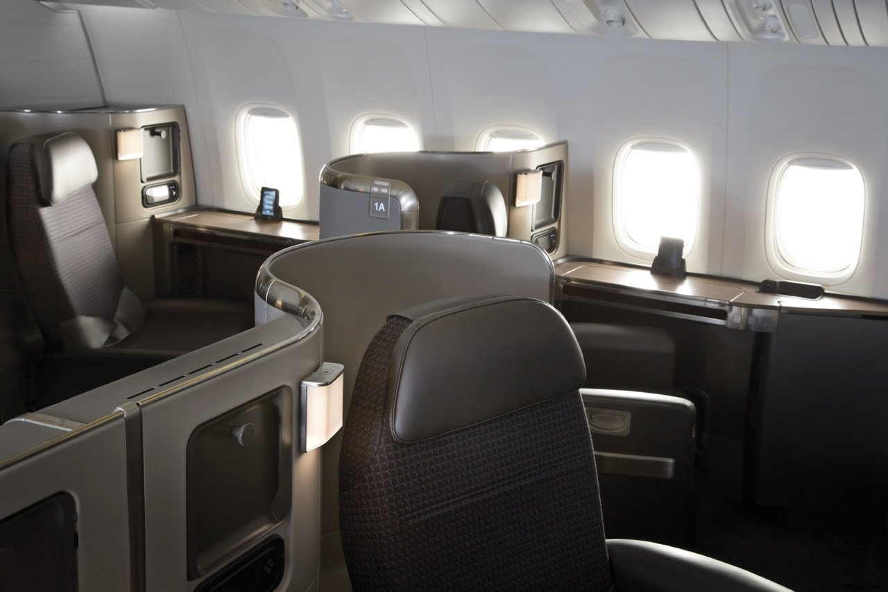American Airlines 777-300 first class cabin