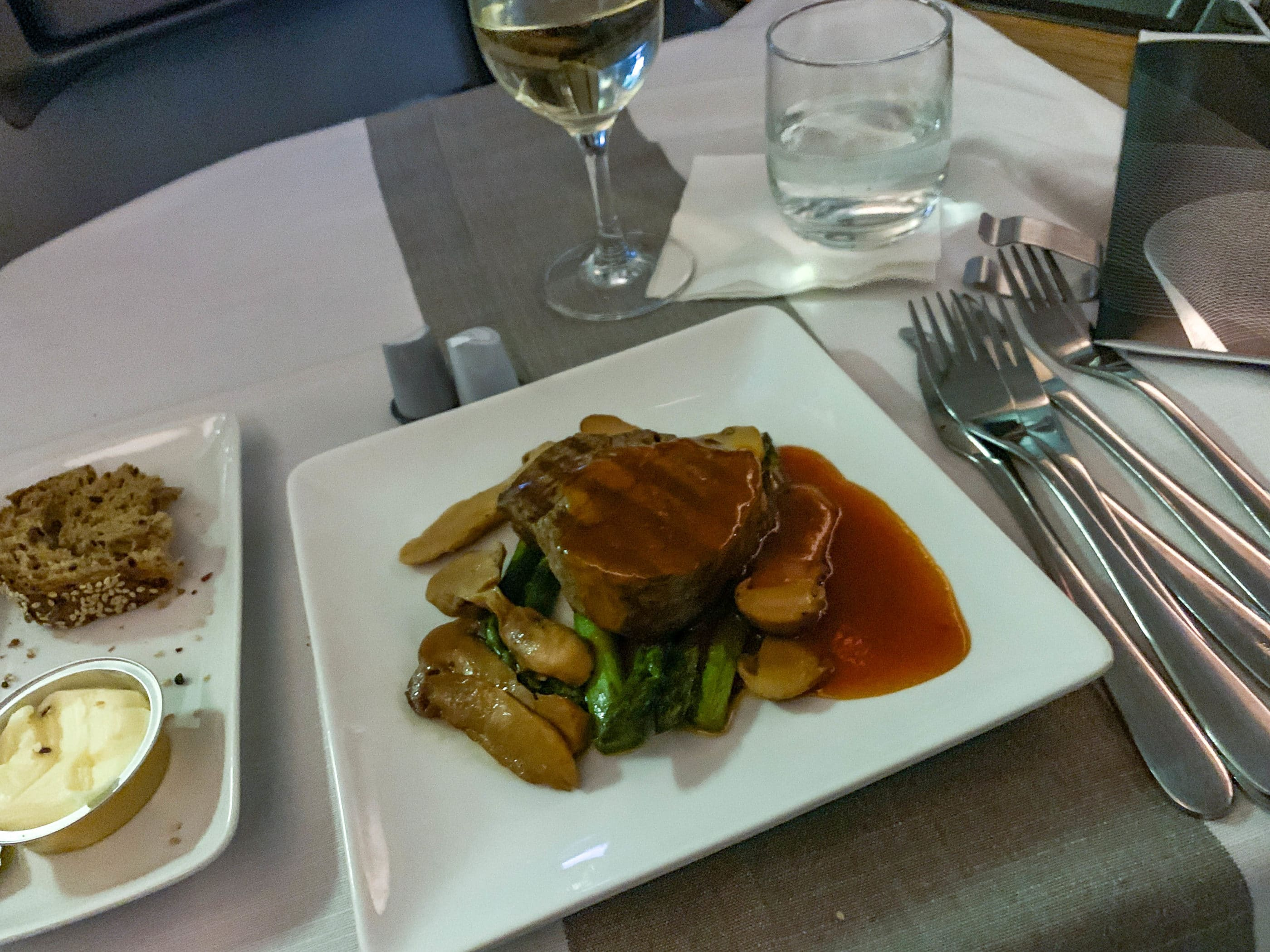 american airlines first class steak fillet