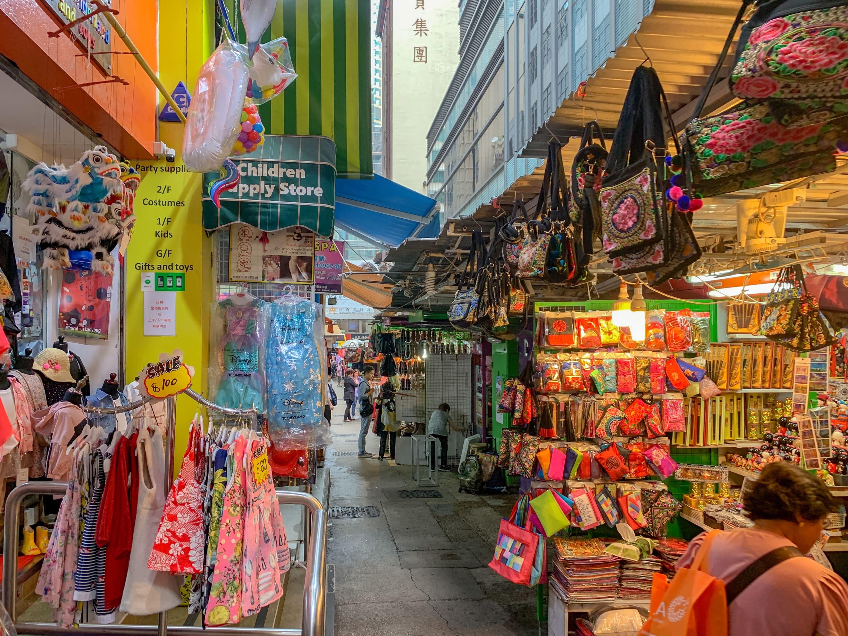 Hong Kong shopping: Li Yuen Street East and Li Yuen Street West otherwise known as The Lanes