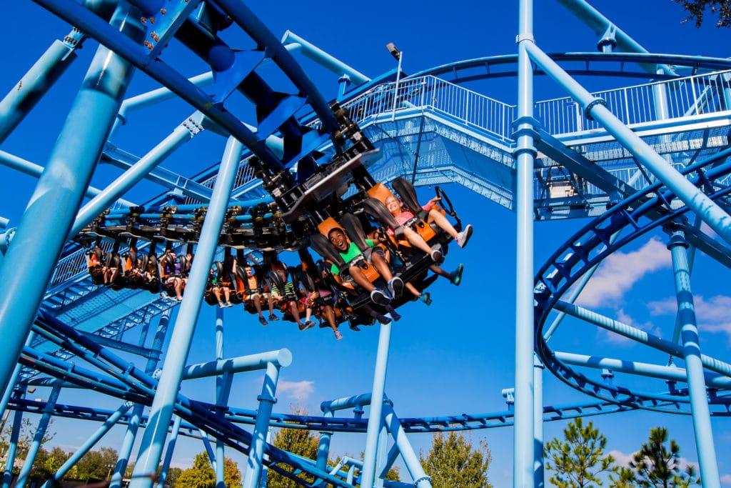 Roller coaster at LEGOLAND Florida Resort