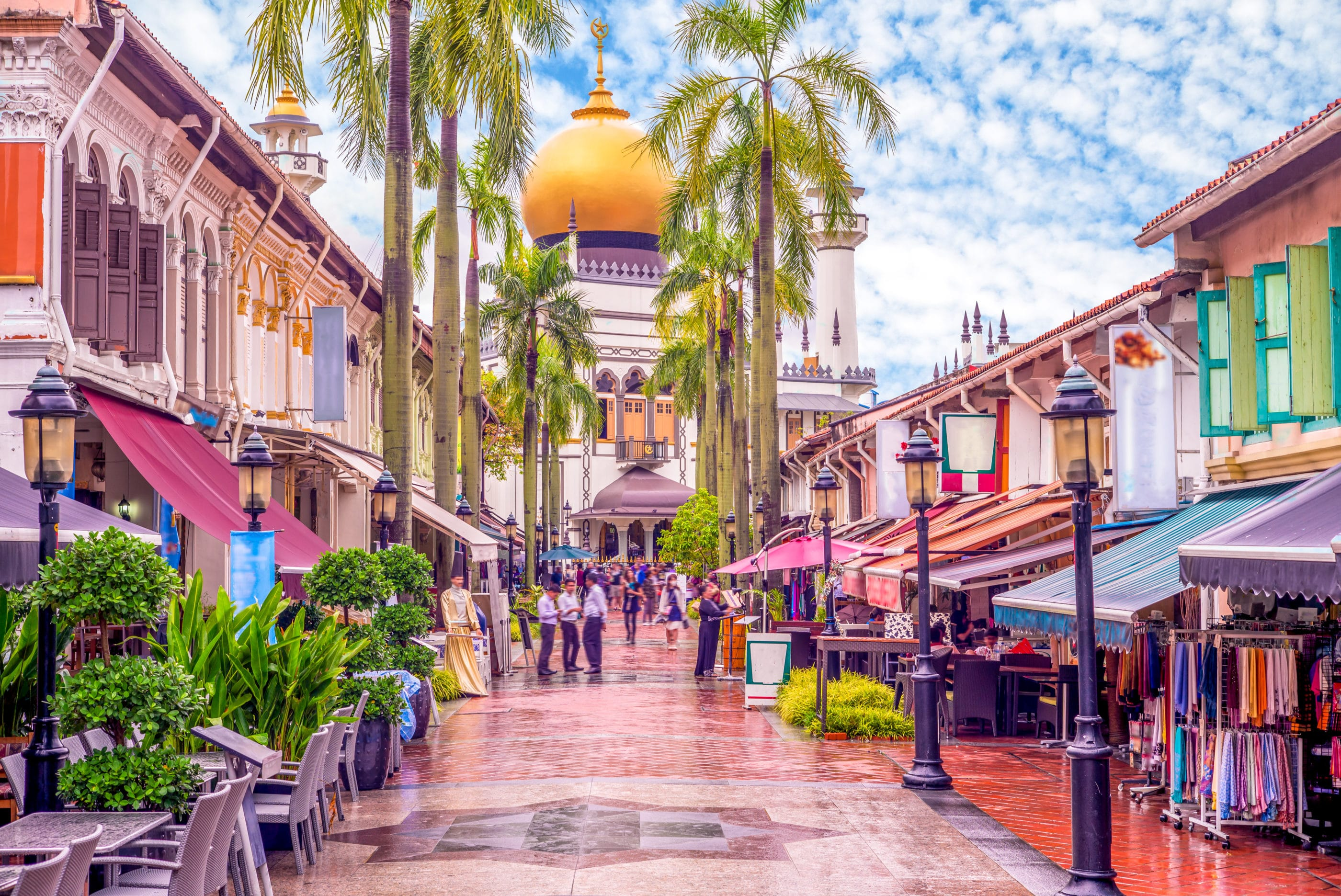 Explore Singapore's ethnic neighborhoods like Kampong Glam