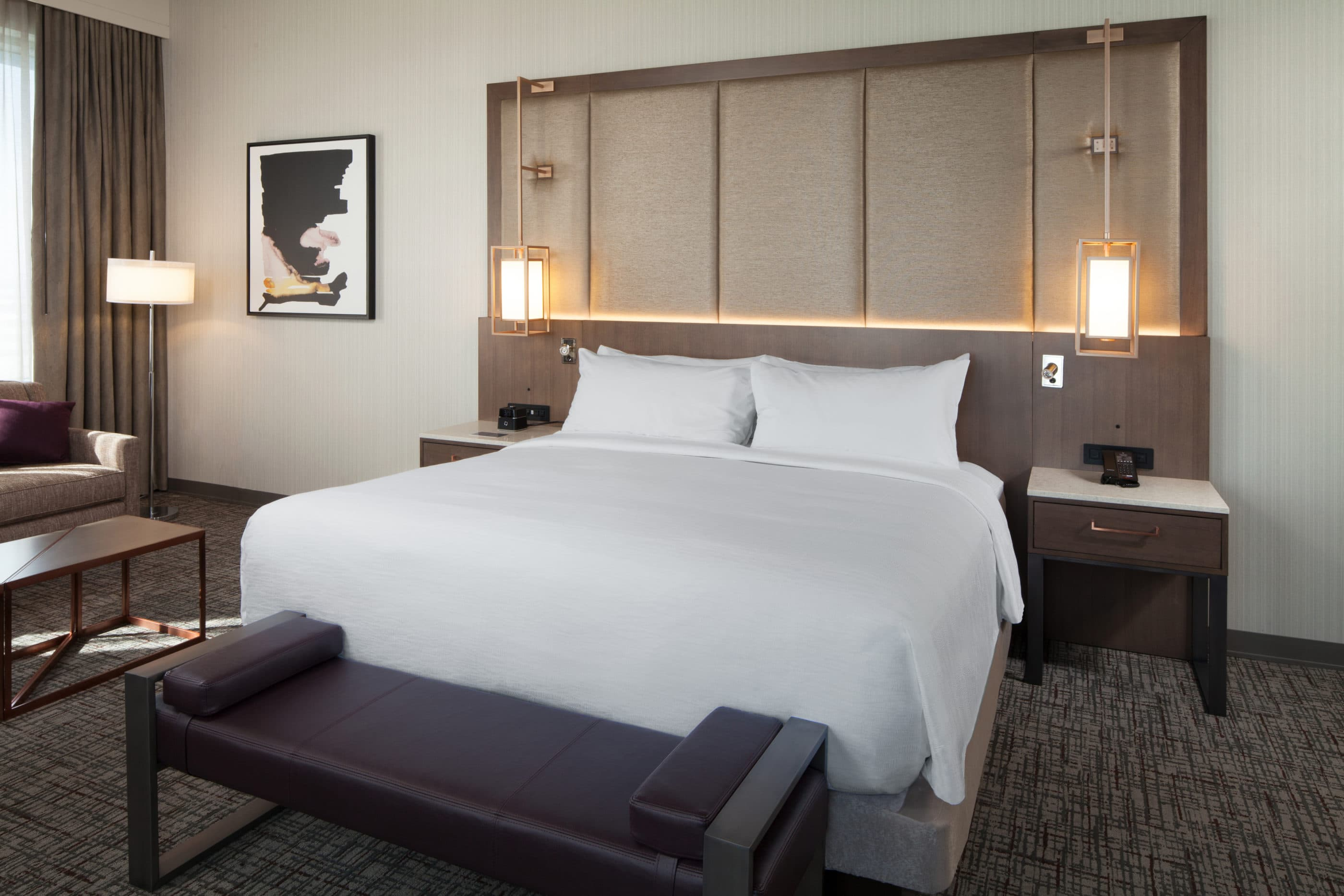 King guestroom at H Hotel in Los Angeles near LAX