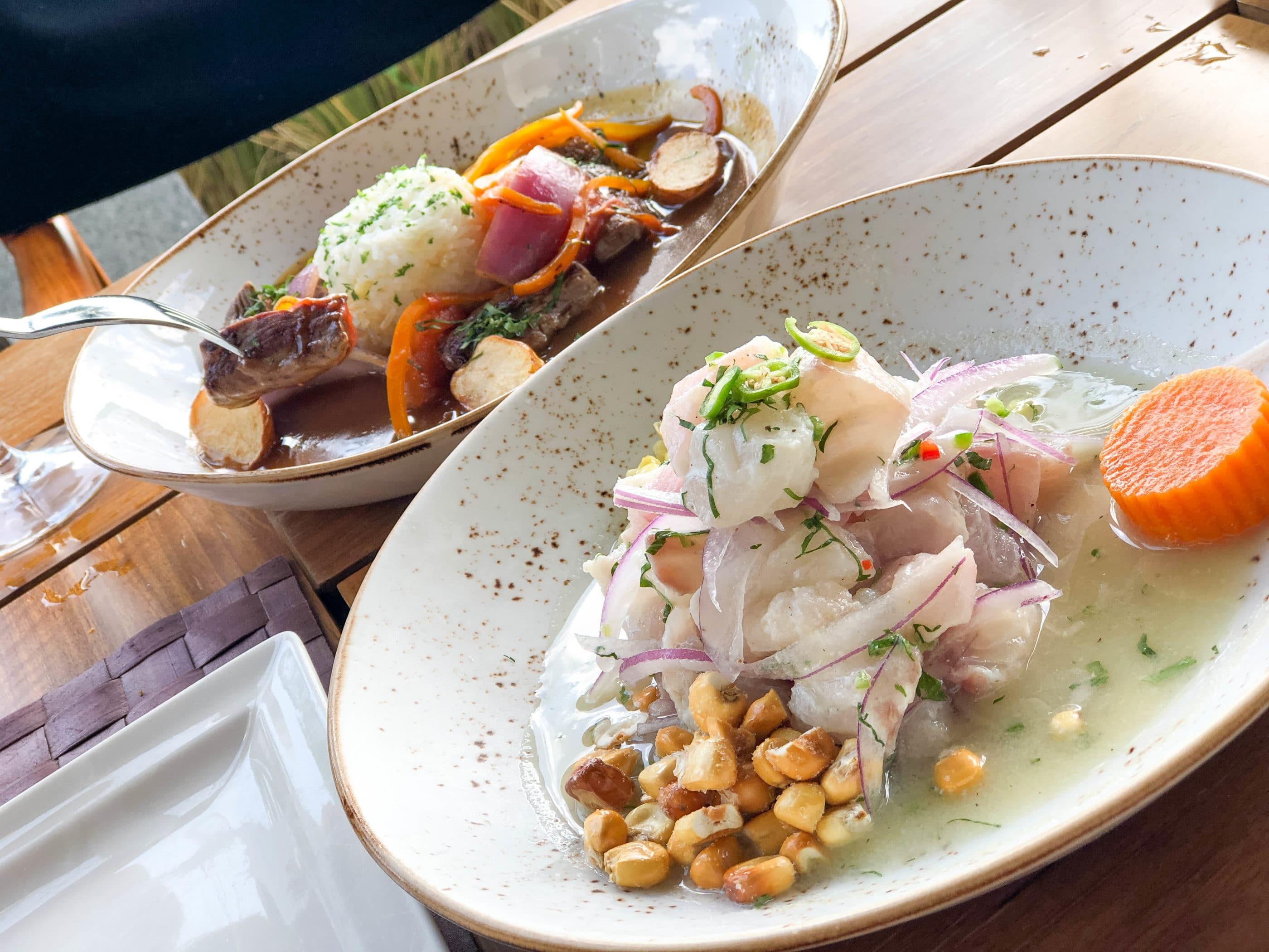 Fish and octopus ceviche at Ni Peruvian restaurant