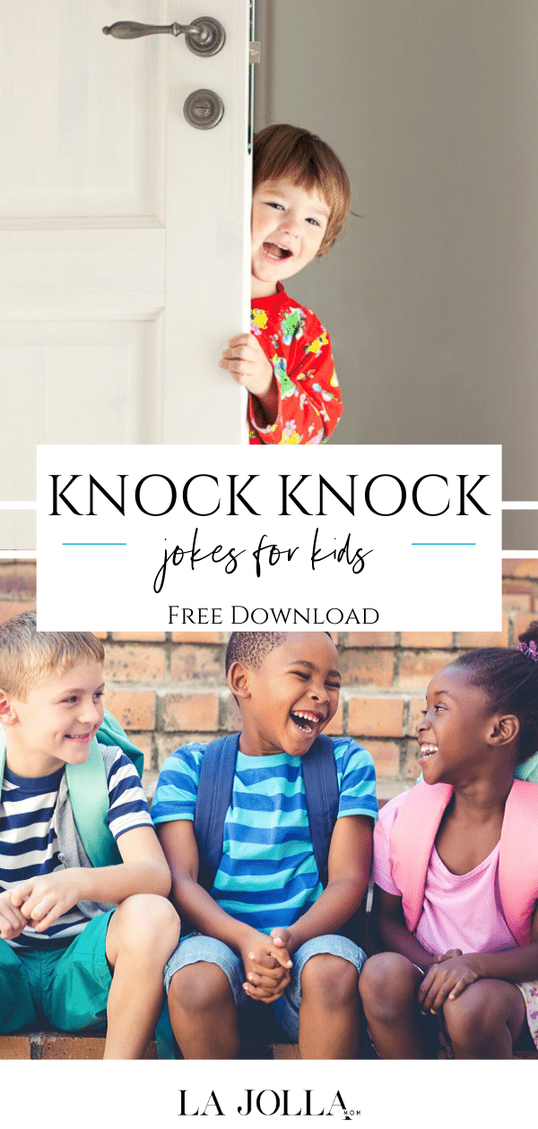 A list of over 125 clean and funny knock knock jokes for kids as young as preschool (adults will enjoy them just as much). Download the list for free!