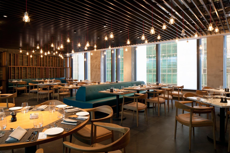 MARKET restaurant dining area inside  Hotel ICON Hong Kong.