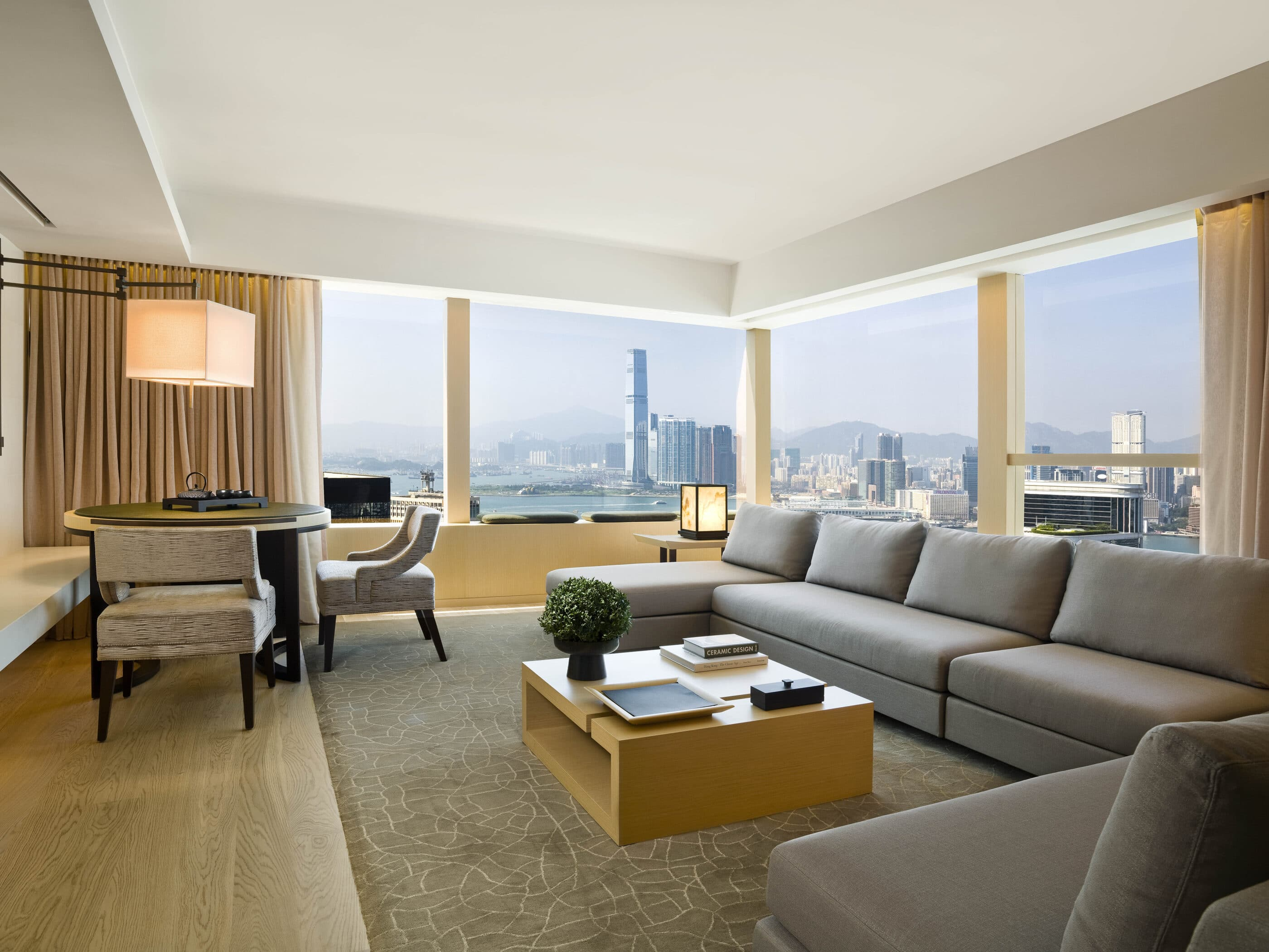 A suite living room at Upper House Hong Kong