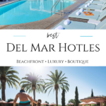 I review the best hotels in Del Mar CA, one of the most popular places to stay in San Diego, that are boutique, luxury, and budget.