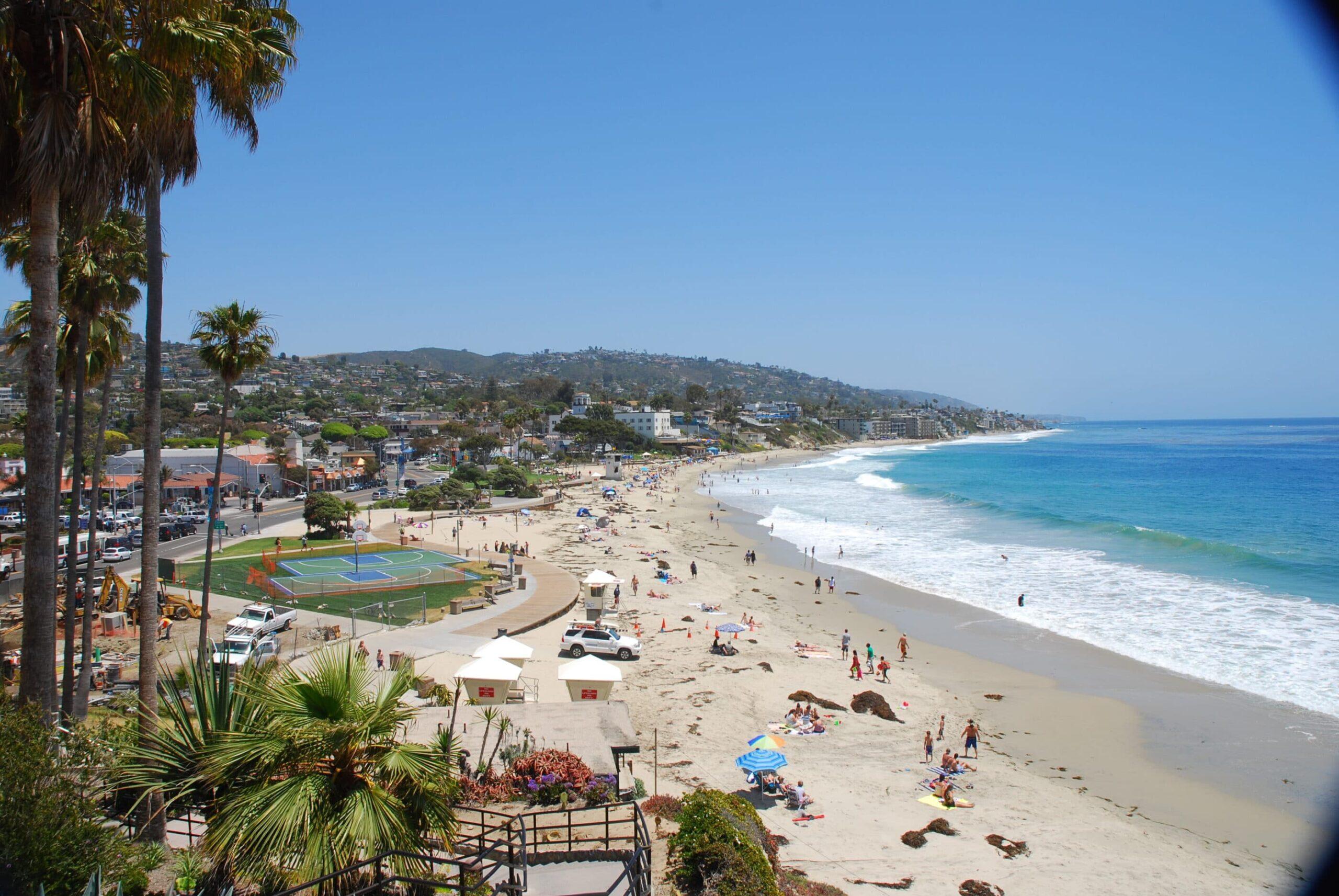 the beach at Laguna Beach on a sunny day