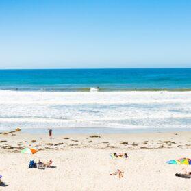 San Diego beaches on a sunny day.