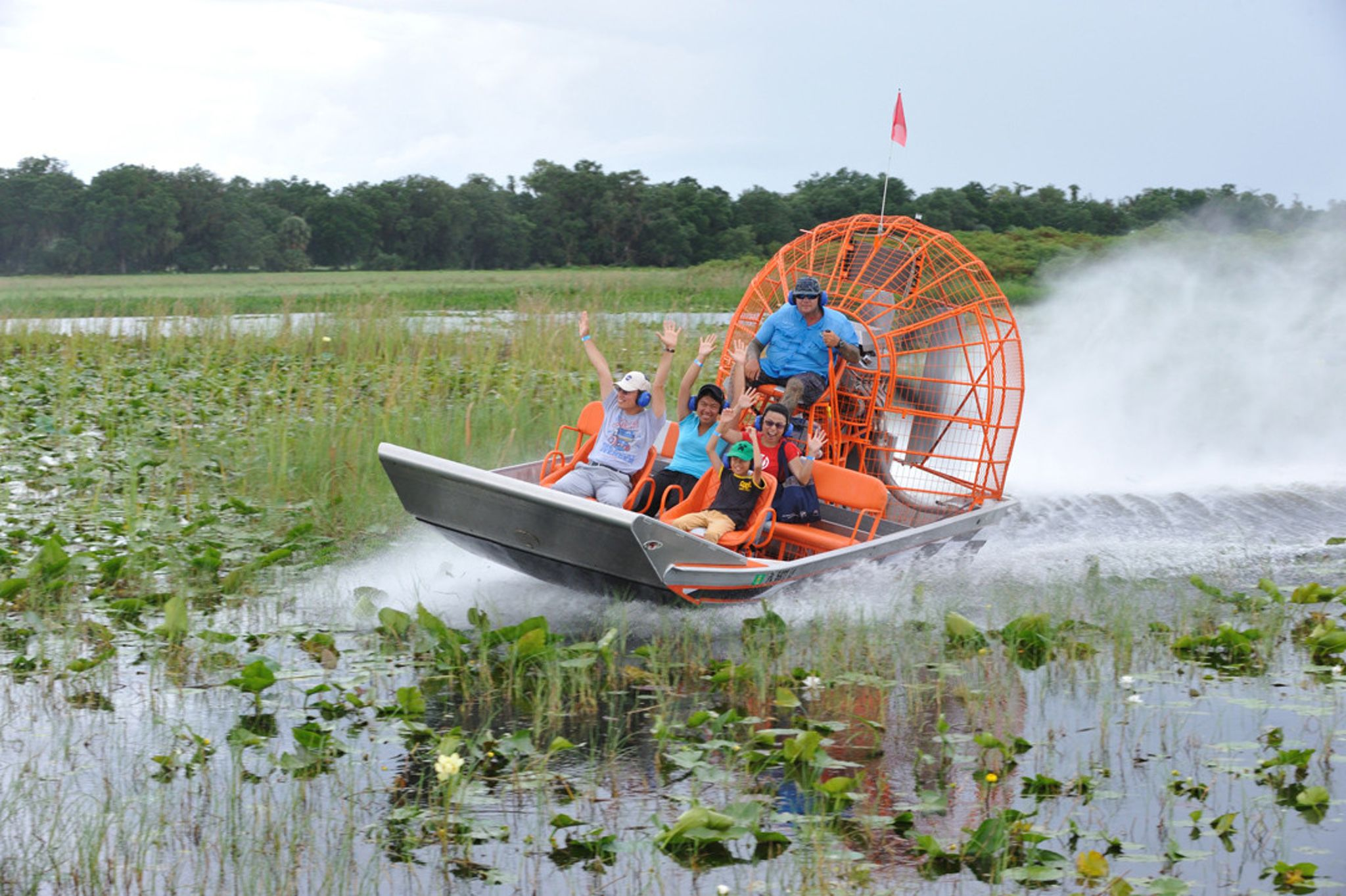 Guests enjoy an airport ride on the St. Johns River.