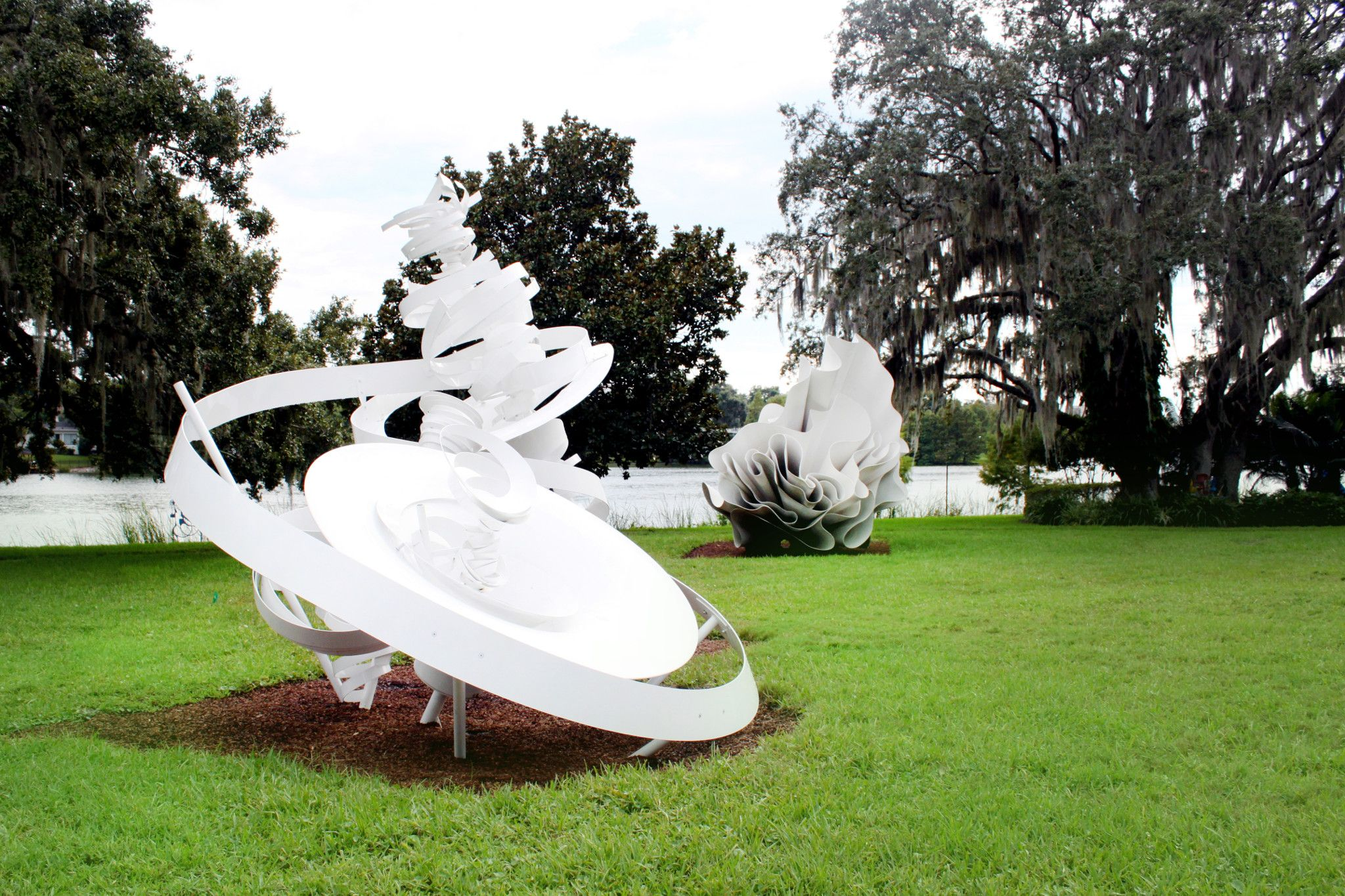 Giant white sculptures at The Monello Museum of American Art in Orlando, Florida.